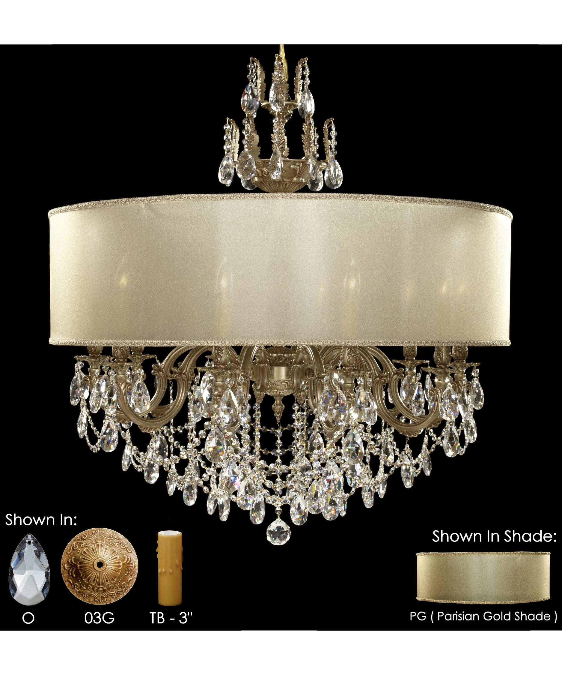 American Brass and Crystal Llydia 36 Inch Wide 12 Light Chandelier – American Brass and Crystal Chandeliers