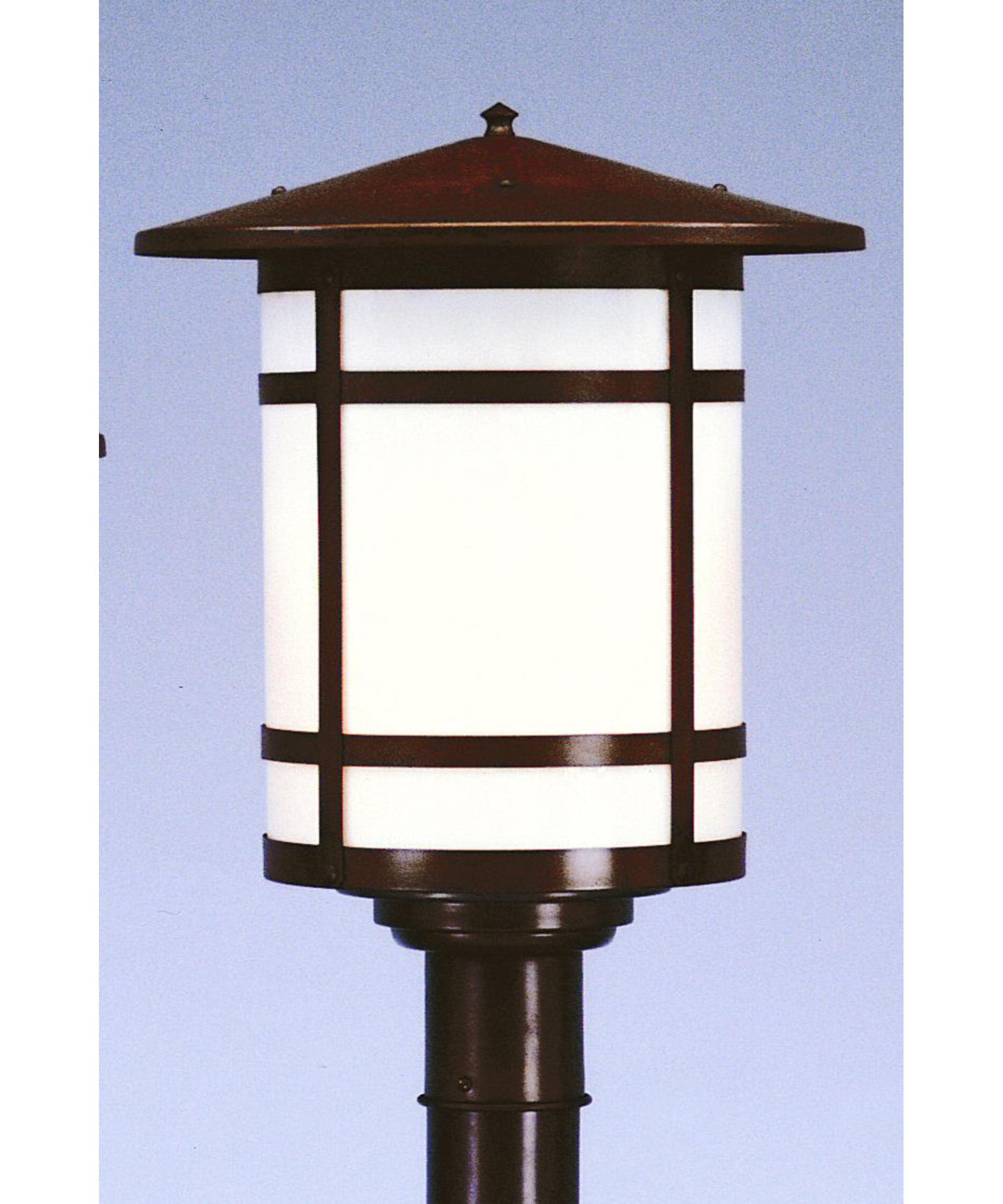 Landscape Lighting Gillette Nj: Arroyo Craftsman BP-14L Berkeley 1 Light Outdoor Post Lamp