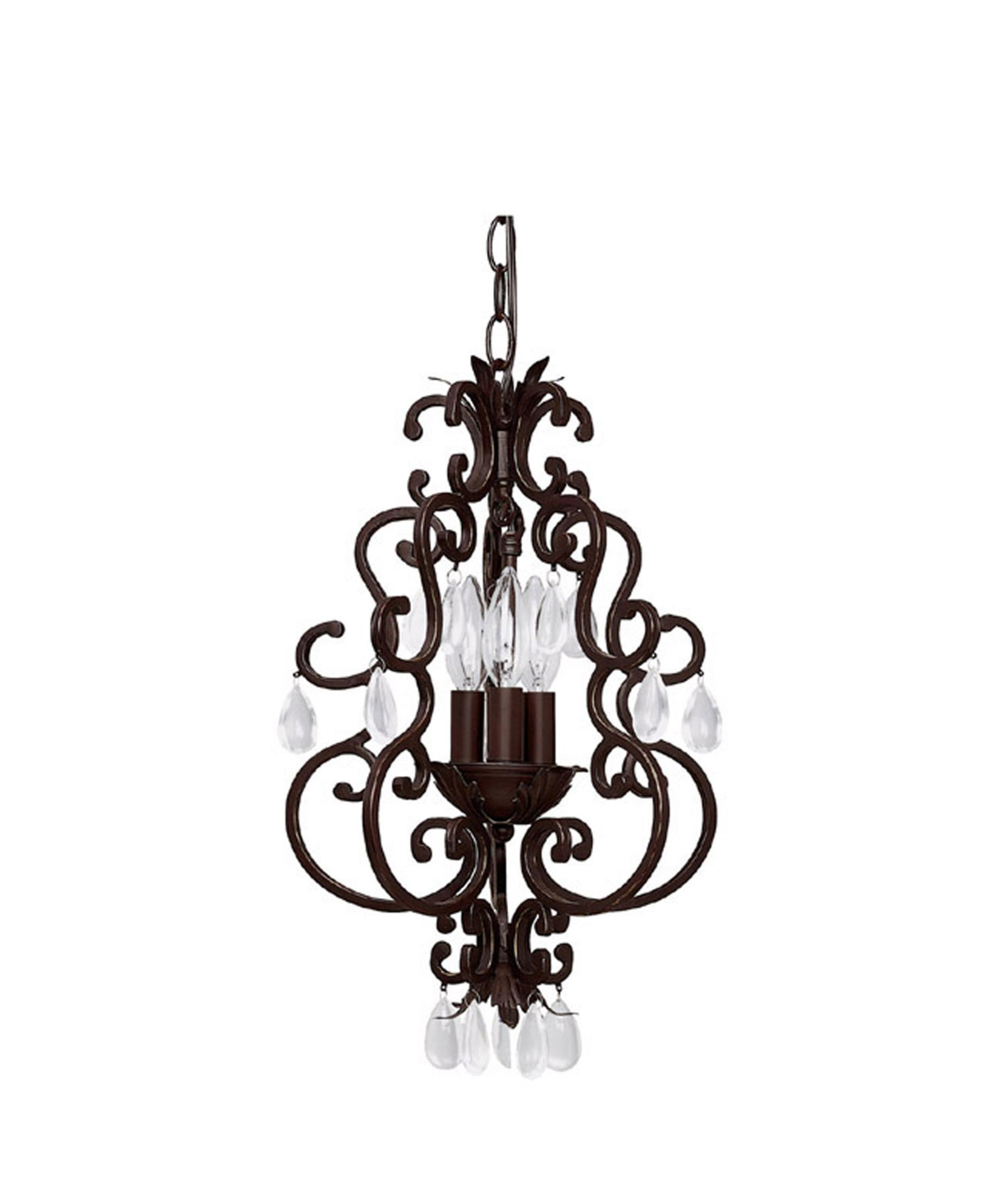 shown in bronze finish and clear crystal crystal - Capital Lighting