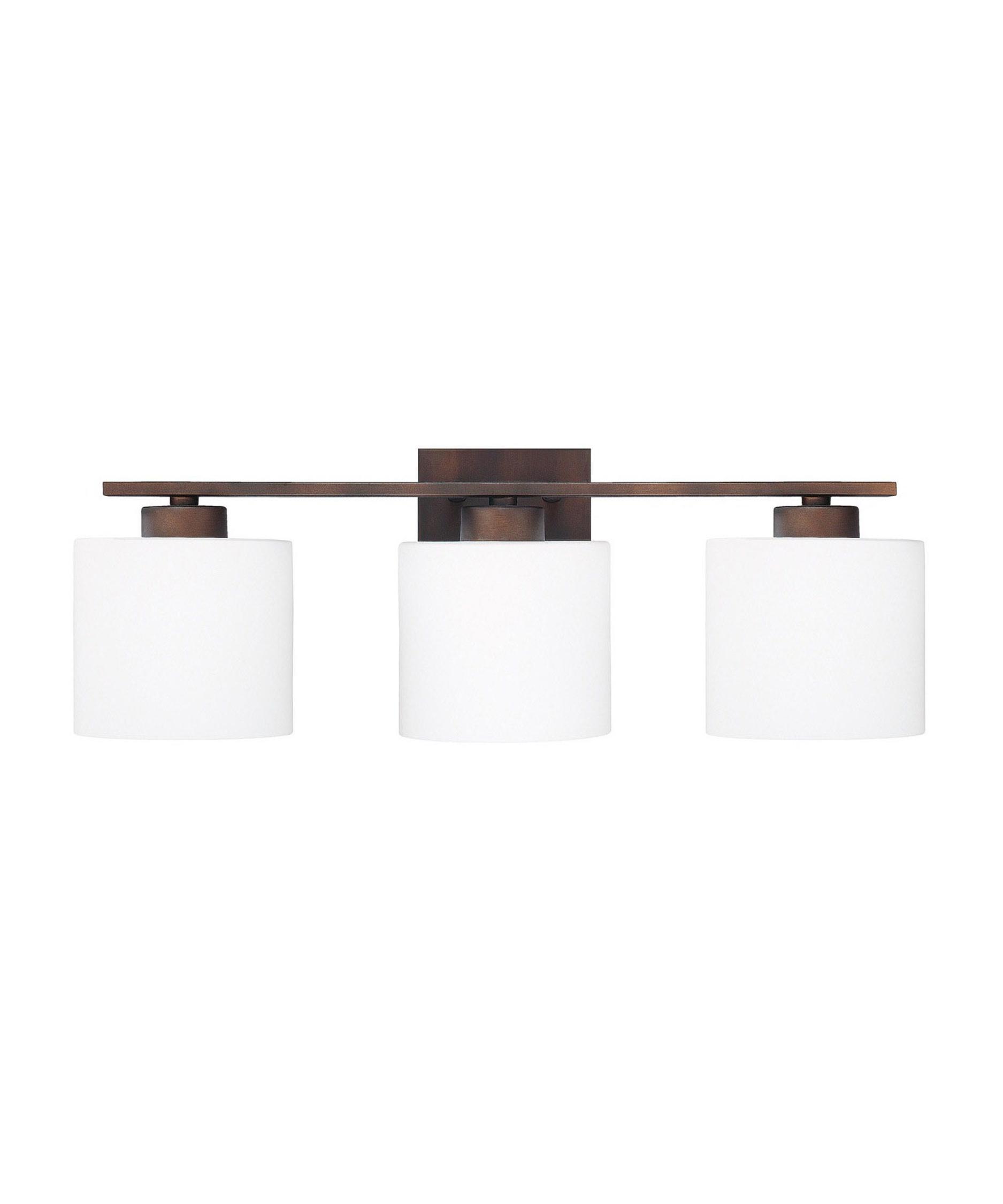 bath vanity lighting fixtures. shown in burnished bronze finish and soft white glass bath vanity lighting fixtures i