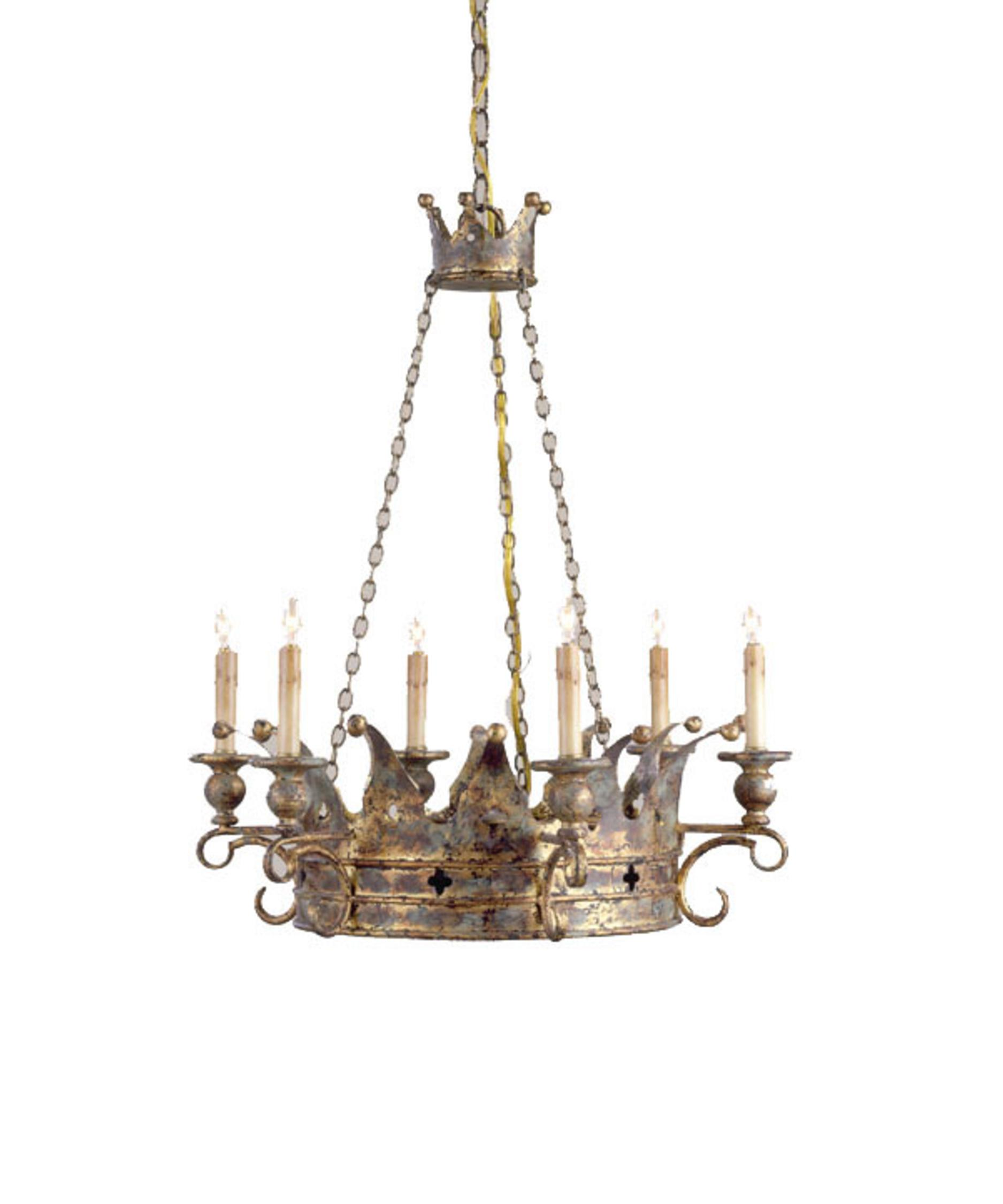 Currey and Company Crown 24 Inch Wide 6 Light Chandelier | Capitol Lighting  1-800lighting.com