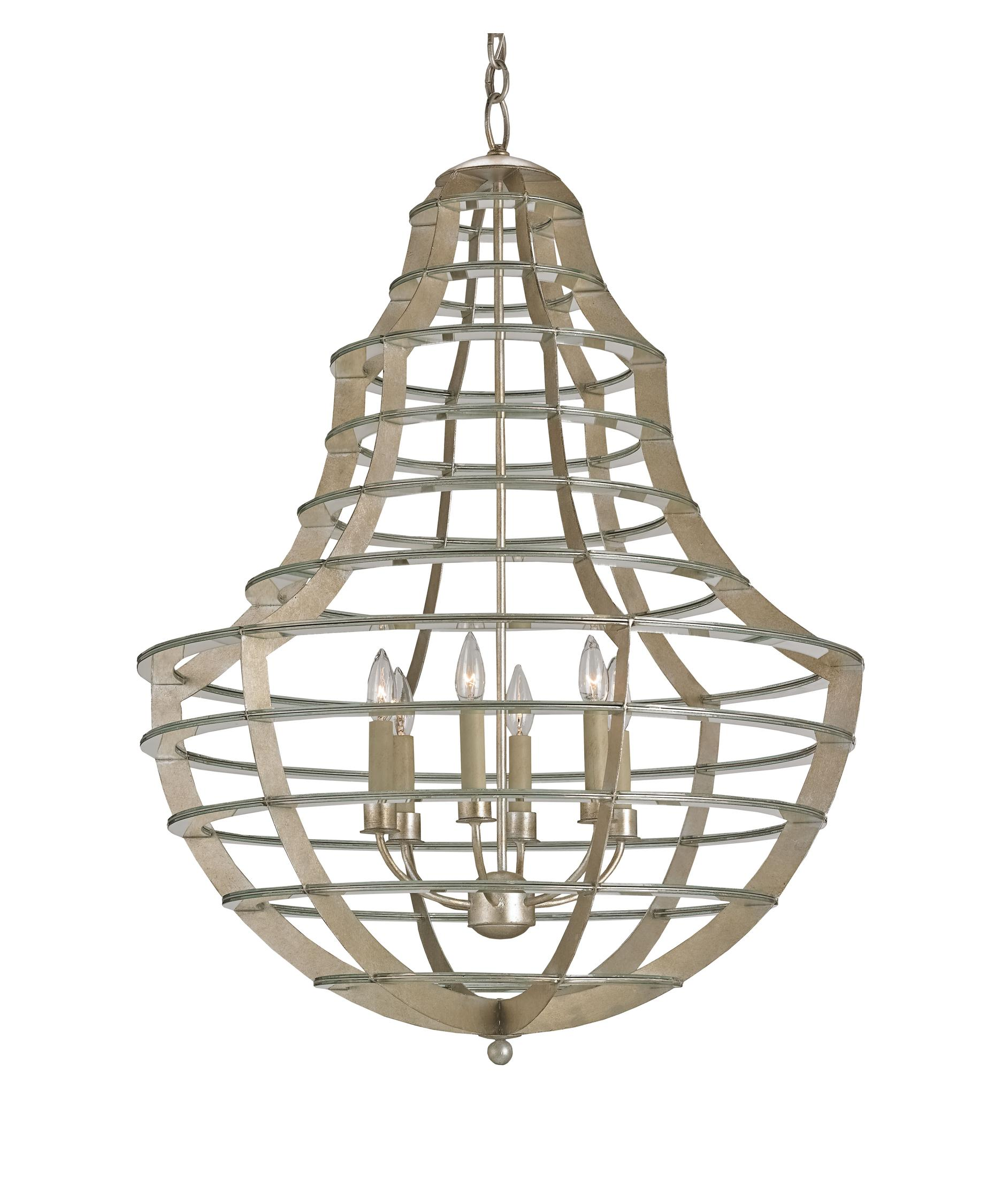 Currey and Company Everest 28 Inch Wide 6 Light Chandelier – Currey and Company Lighting Chandeliers