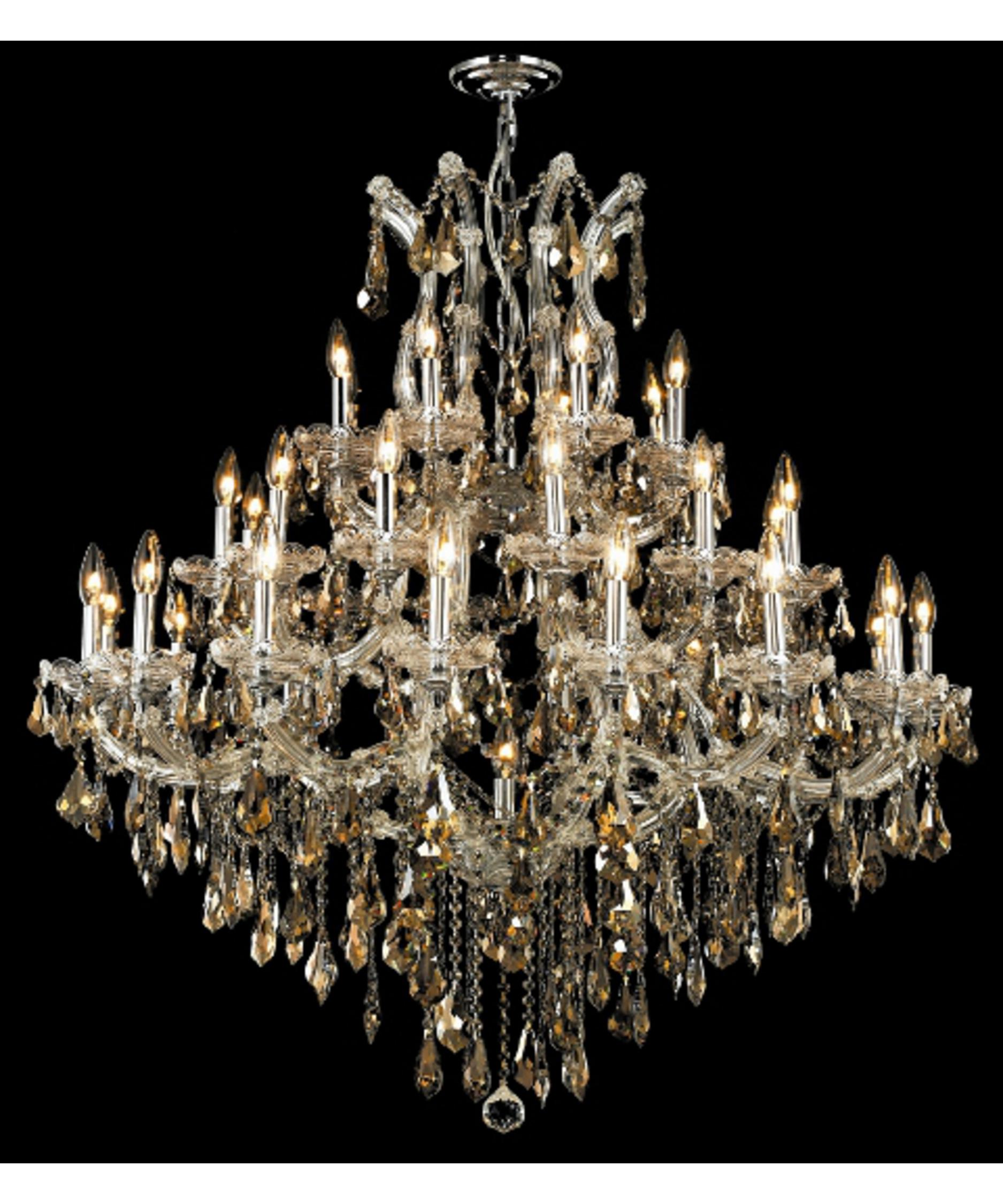 Maria Theresa Chandeliers: Image does not reflect options selected.,Lighting