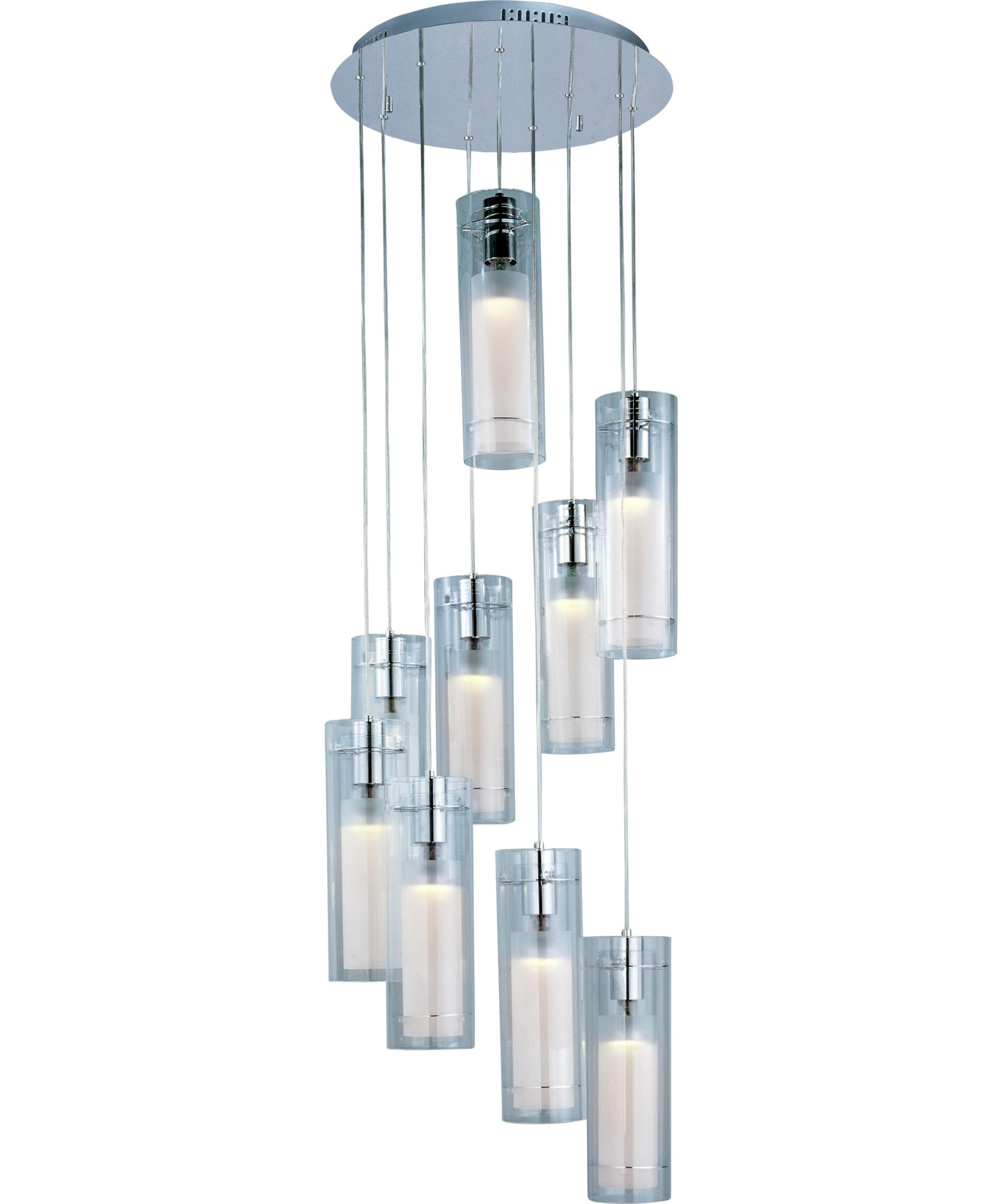 multi pendant lighting fixtures. shown in polished chrome finish and clear white glass multi pendant lighting fixtures