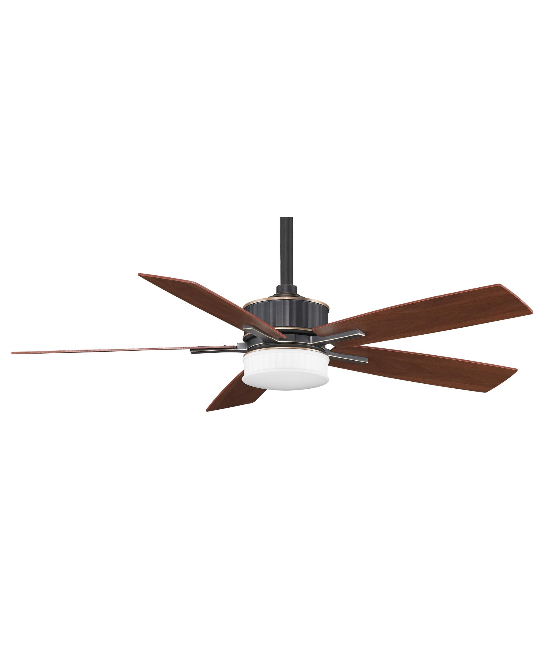 Ceiling Fan 60: Shown in Bronze Accent finish,Lighting