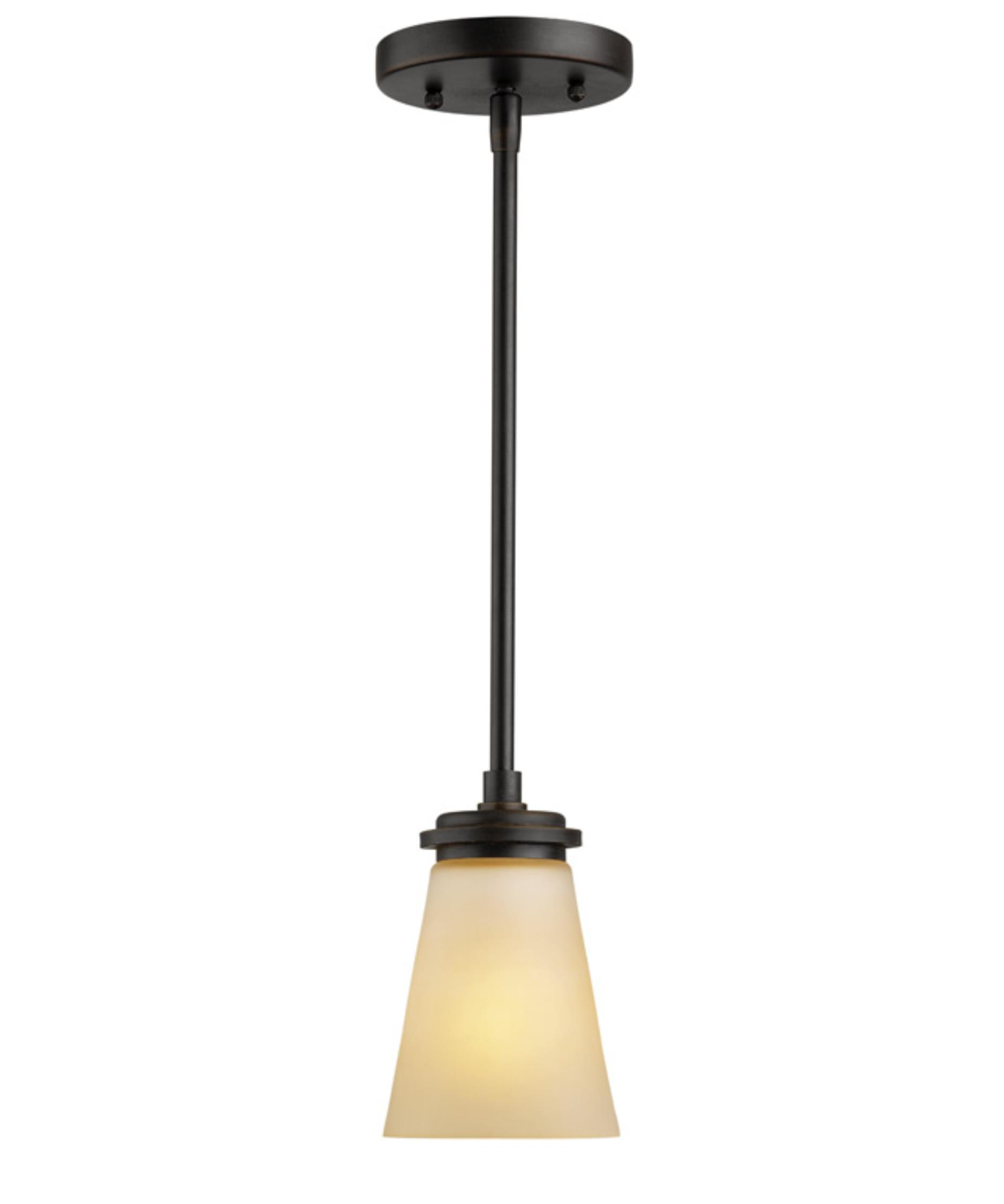shown in deep bronze finish and champagne glass - Forecast Lighting