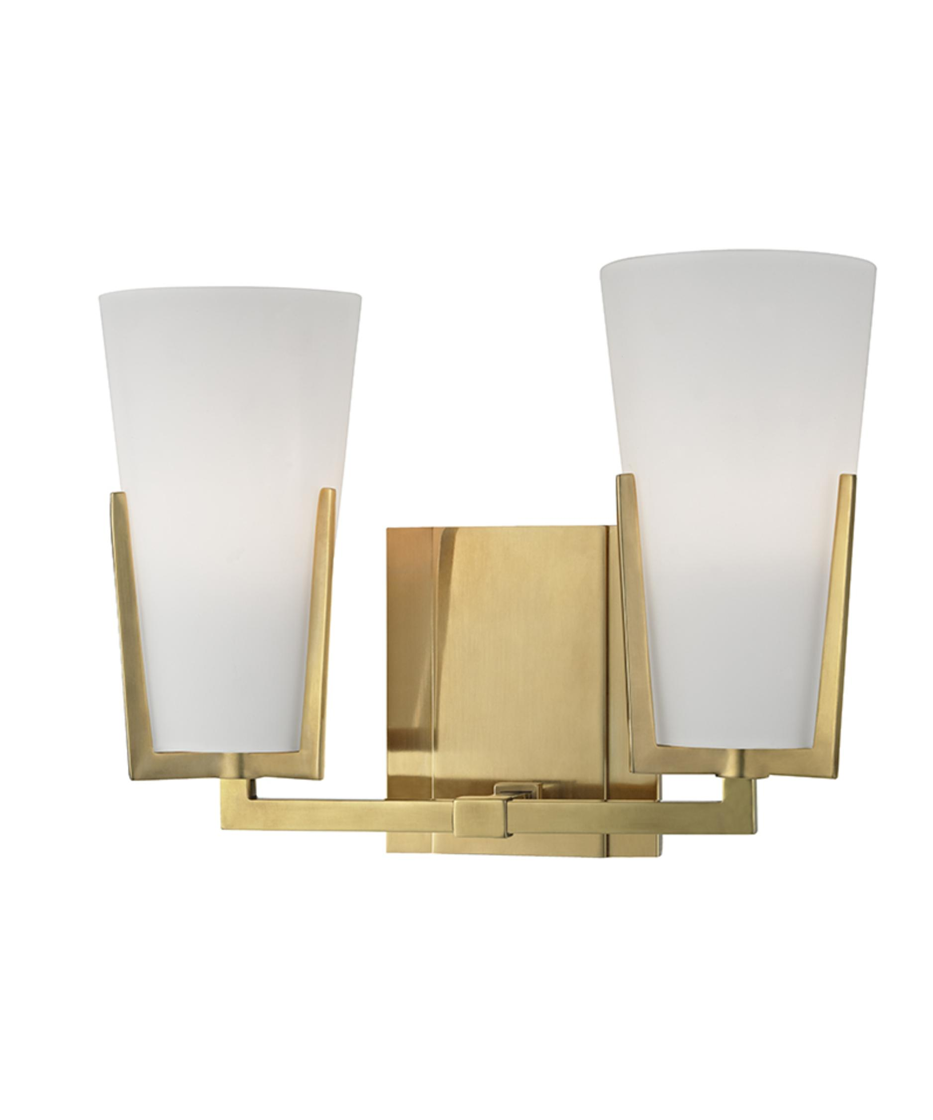 Bathroom Vanity Lights Brass hudson valley 1802 upton 12 inch wide bath vanity light | capitol
