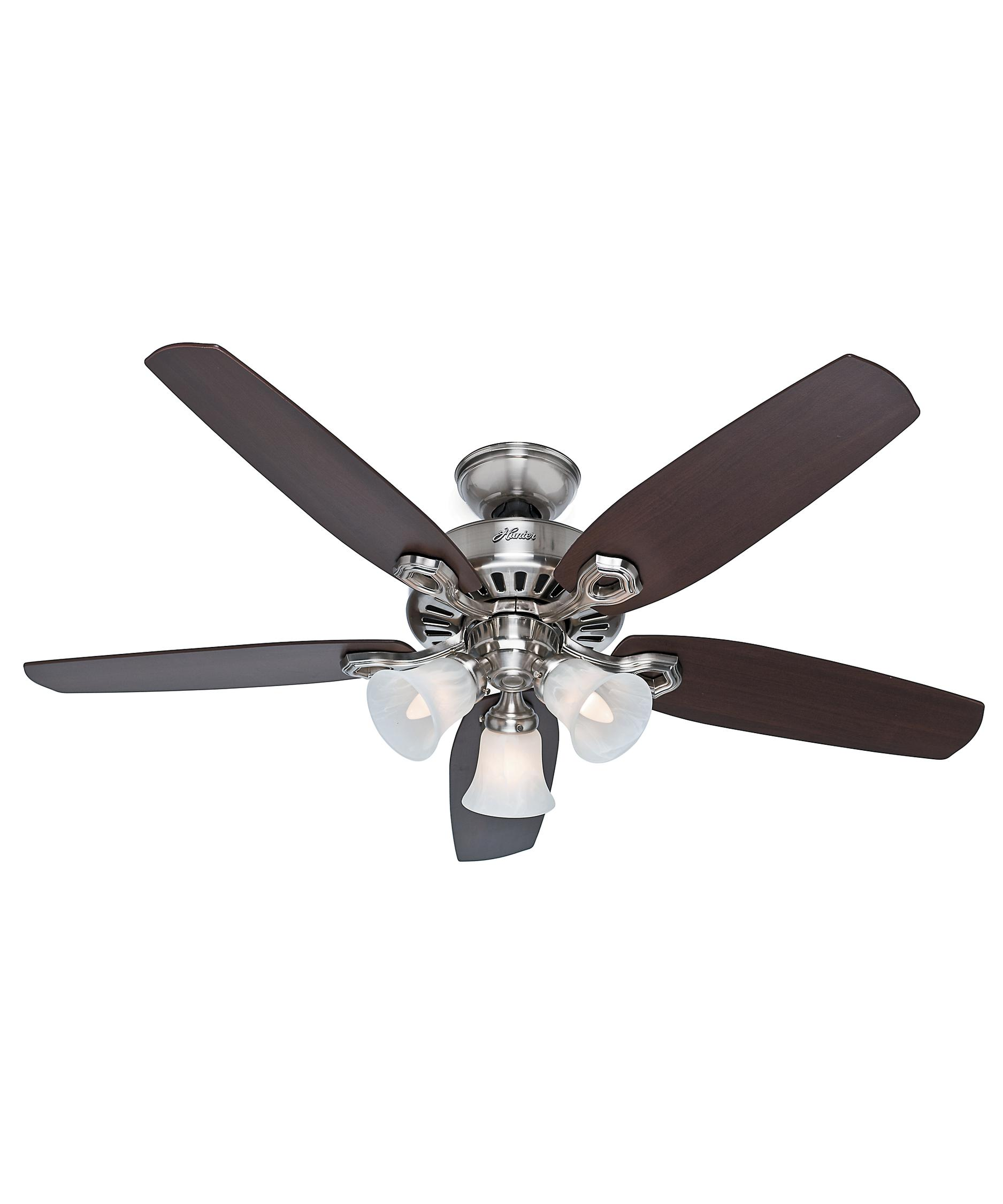 Murray Feiss Ceiling Fan Light Kit: Hunter Fan Builder Plus 52 Inch Ceiling Fan With Light Kit