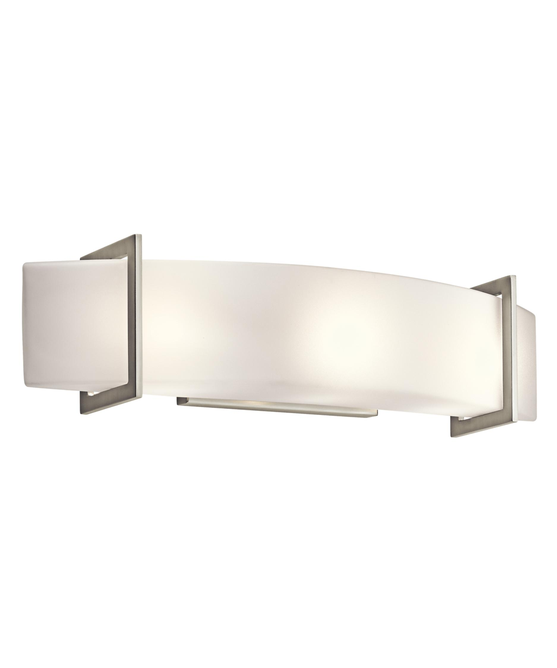 Bathroom Vanity Lights Kichler kichler 45220 crescent view 24 inch wide bath vanity light