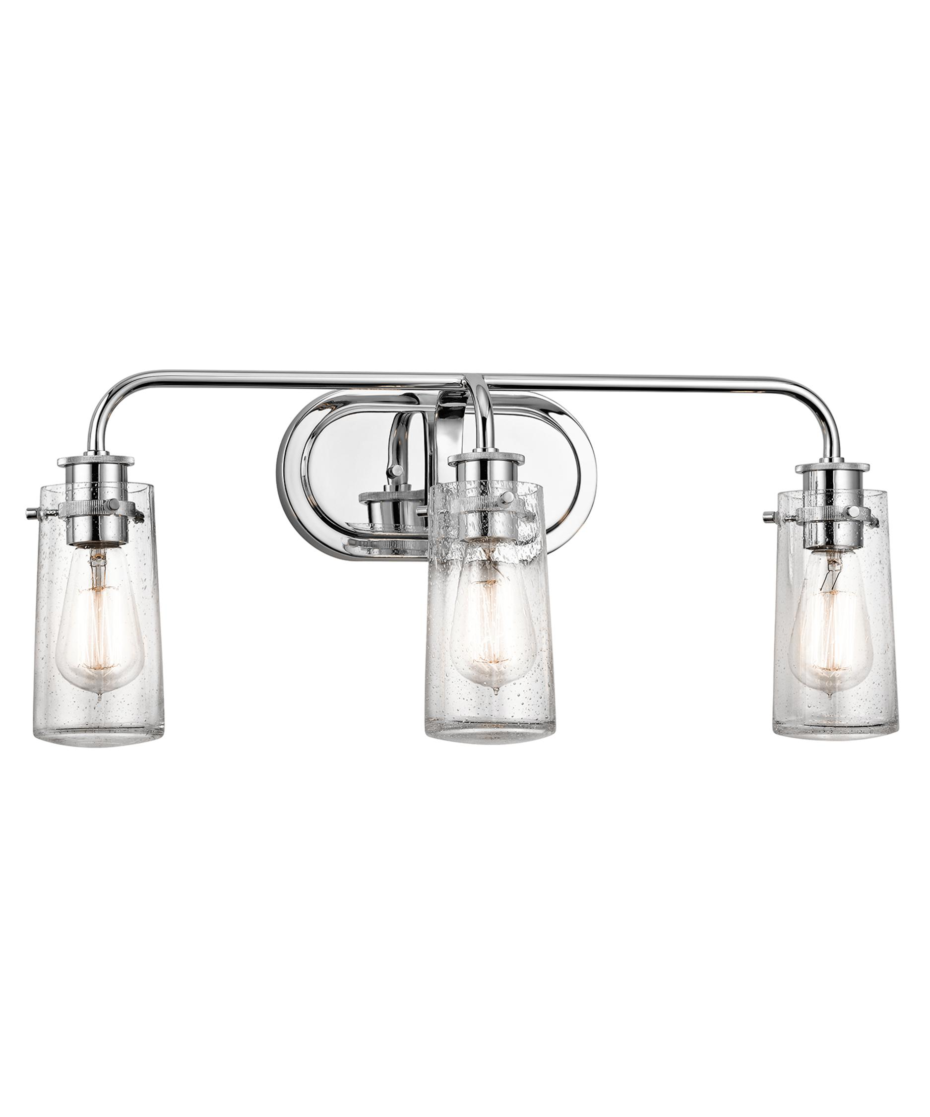 Shown in Chrome finish and Clear Seedy glassKichler 45459 Braelyn 24 Inch Wide Bath Vanity Light   Capitol  . Clear Glass Bathroom Vanity Lights. Home Design Ideas