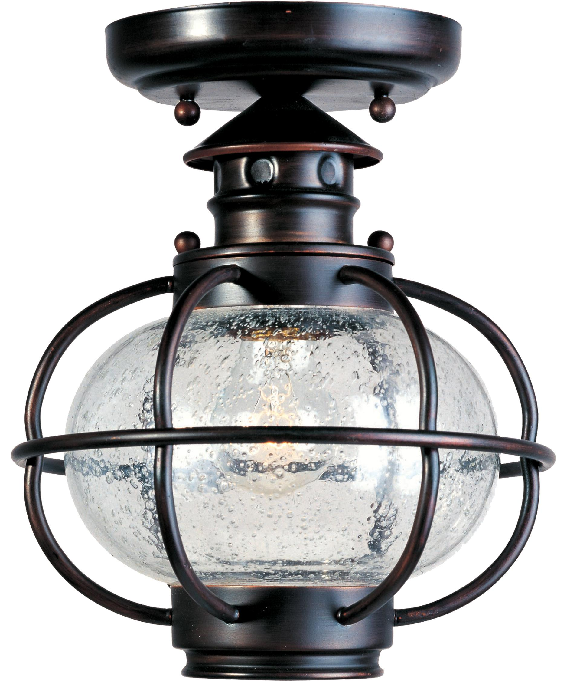 shown in oil rubbed bronze finish and seedy glass elk lighting brendon 2light flushmount ceiling fixture