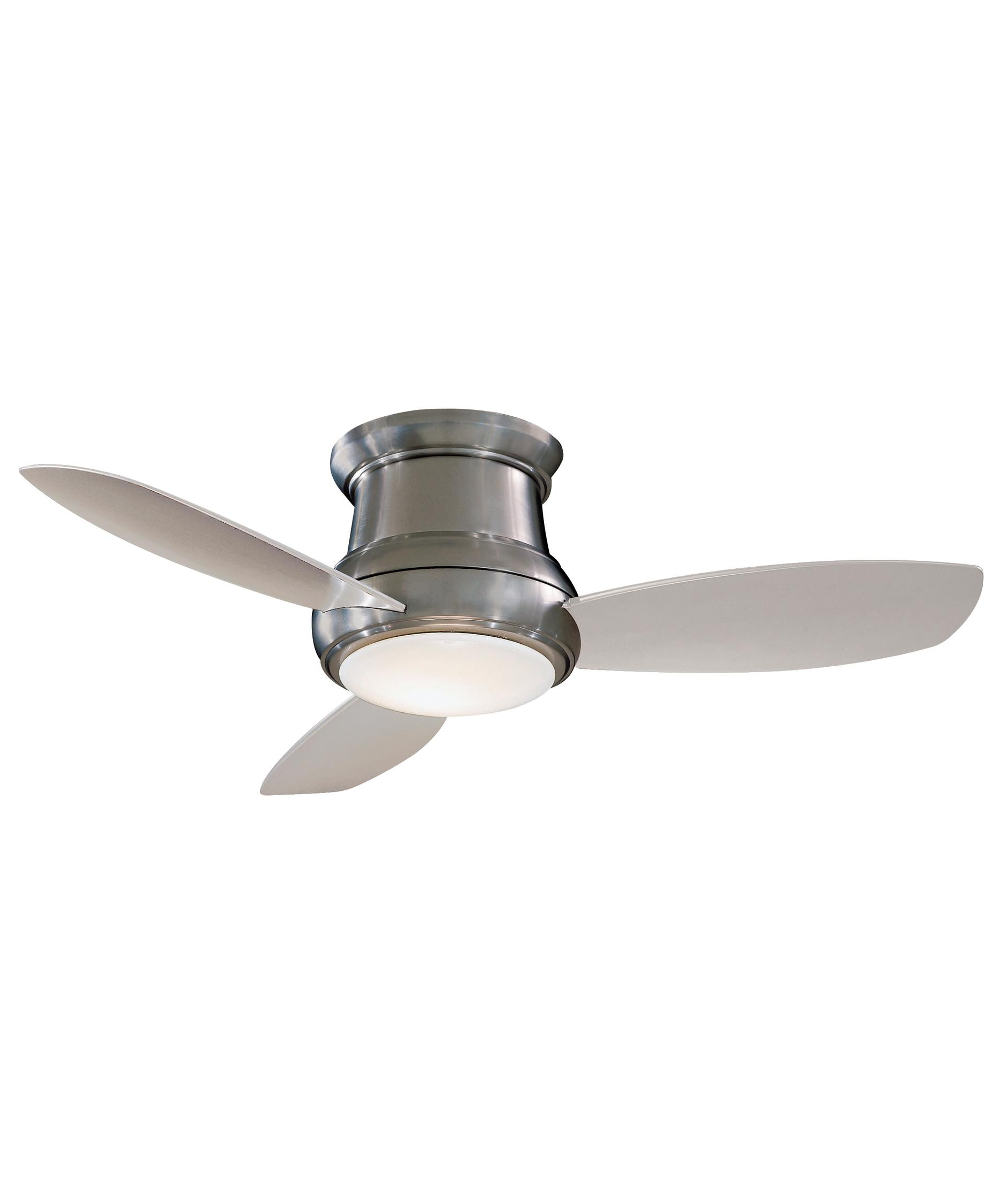 Ceiling Hugger Fans With Lights: Shown in Brushed Nickel finish,Lighting