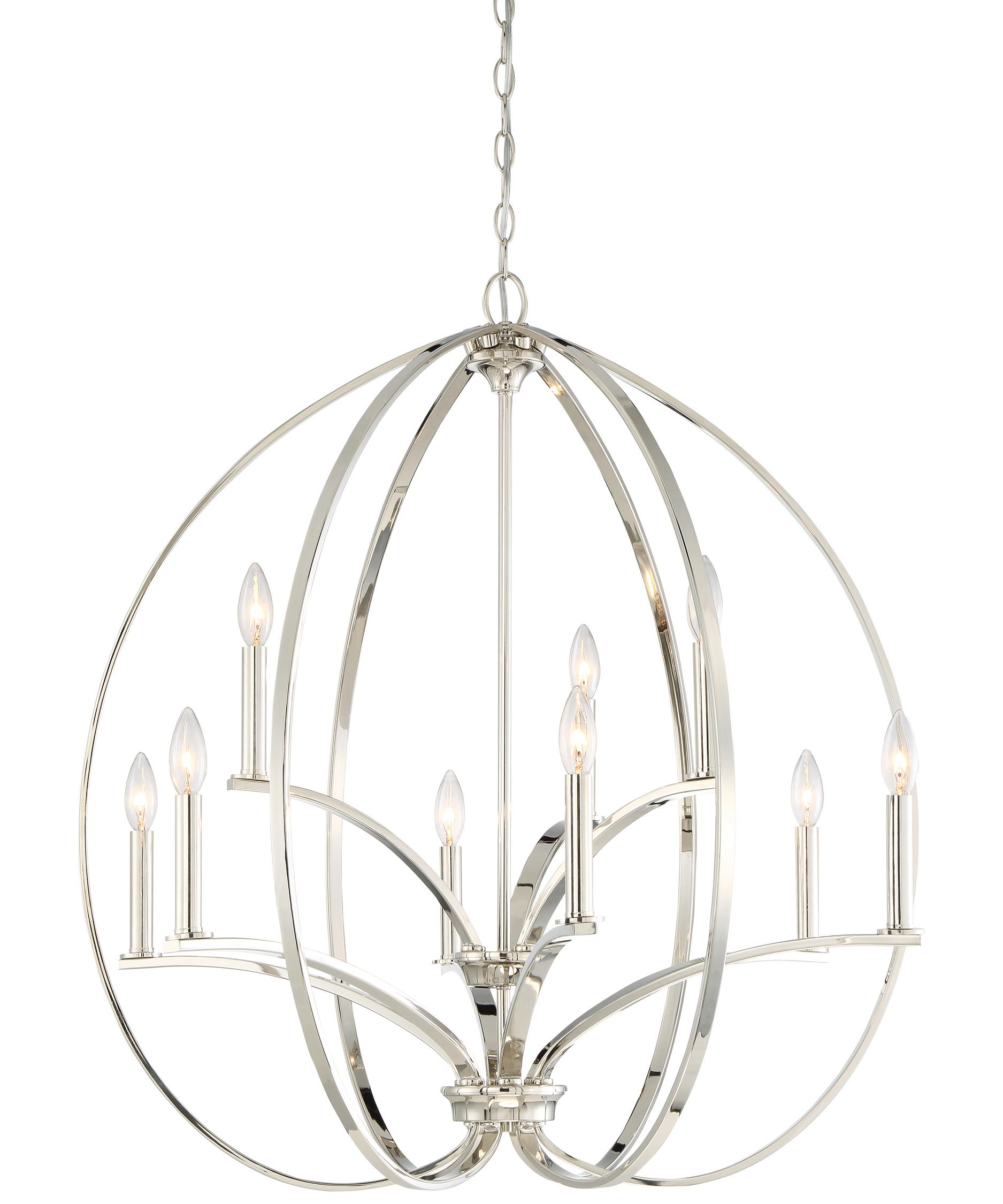 minka lavery tilbury 30 inch wide 9 light chandelier capitol lighting - Minka Lighting