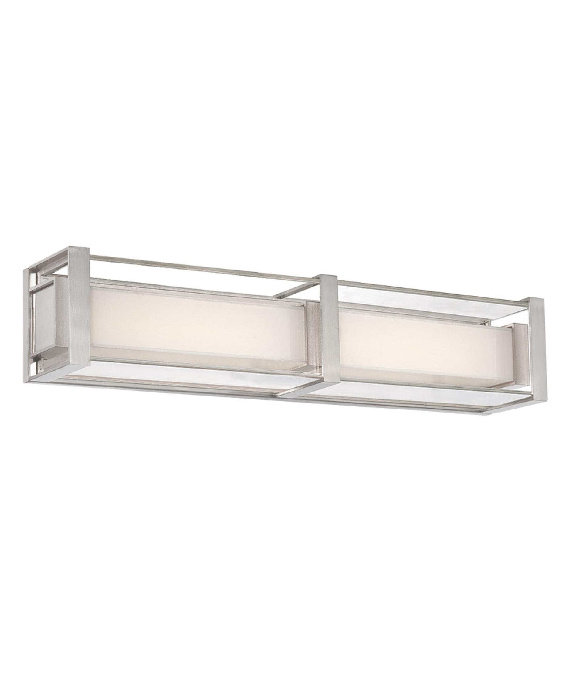 Bathroom vanity lights brushed nickel - Modern Forms Ws 6224 Sheridan 24 Inch Wide Bath Vanity Light Capitol Lighting 1 800lighting Com