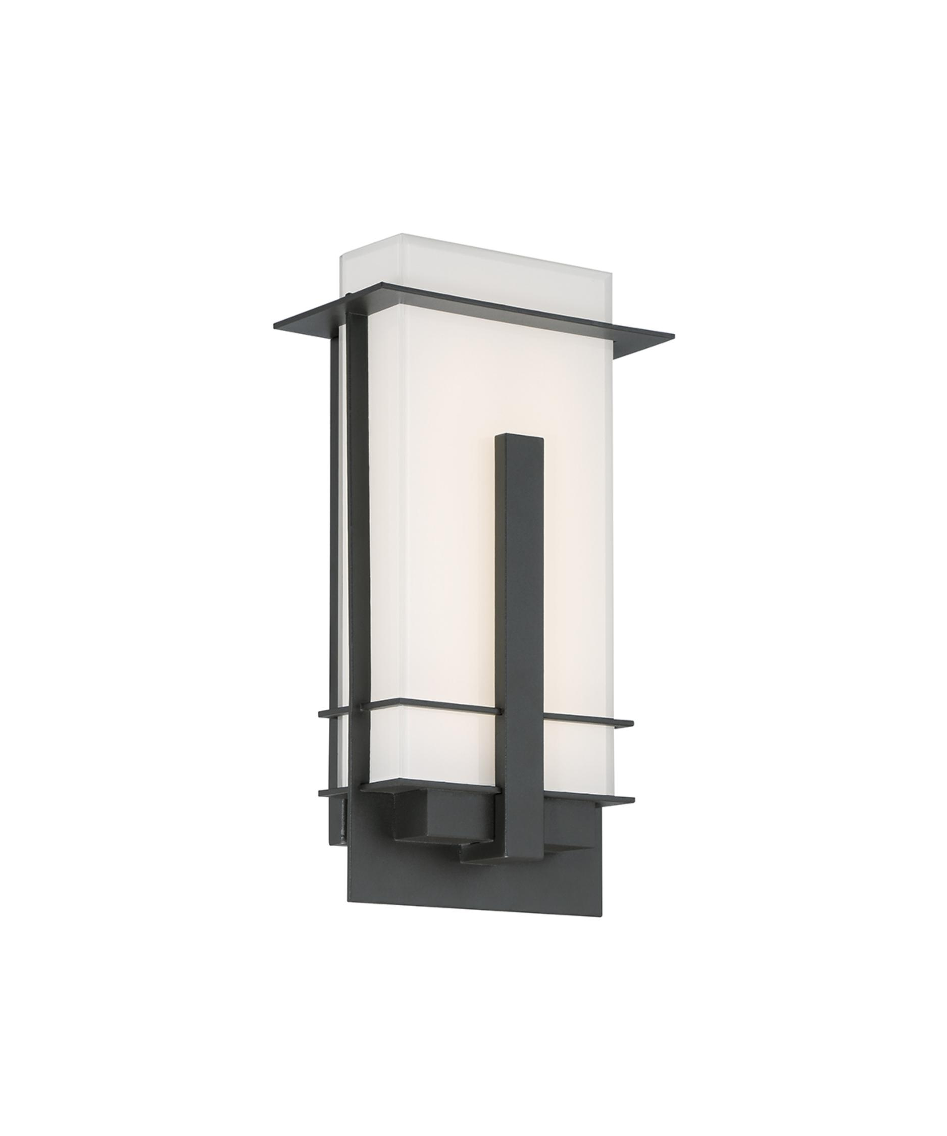 shown in bronze finish and miter cut white glass - Modern Forms Lighting
