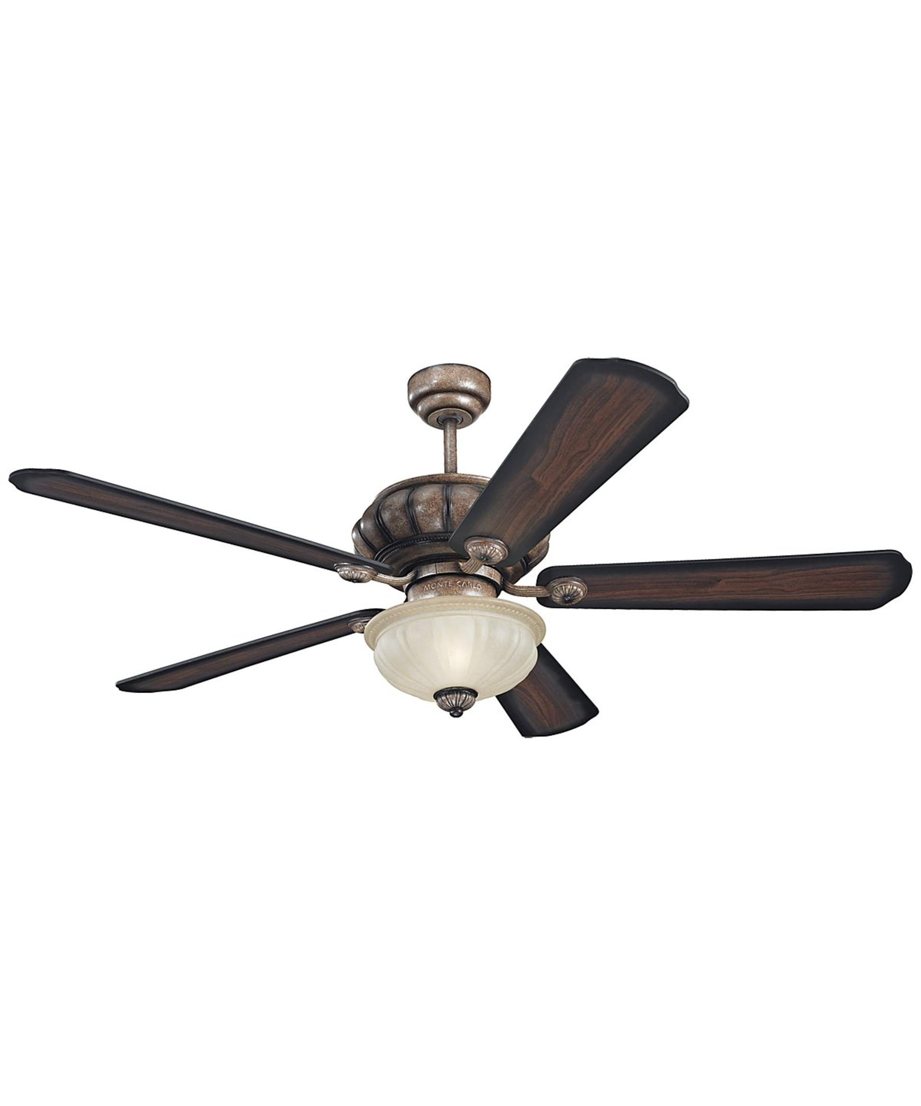Murray Feiss Ceiling Fan Light Kit: Monte Carlo 5MGR54 Matise 54 Inch Ceiling Fan With Light