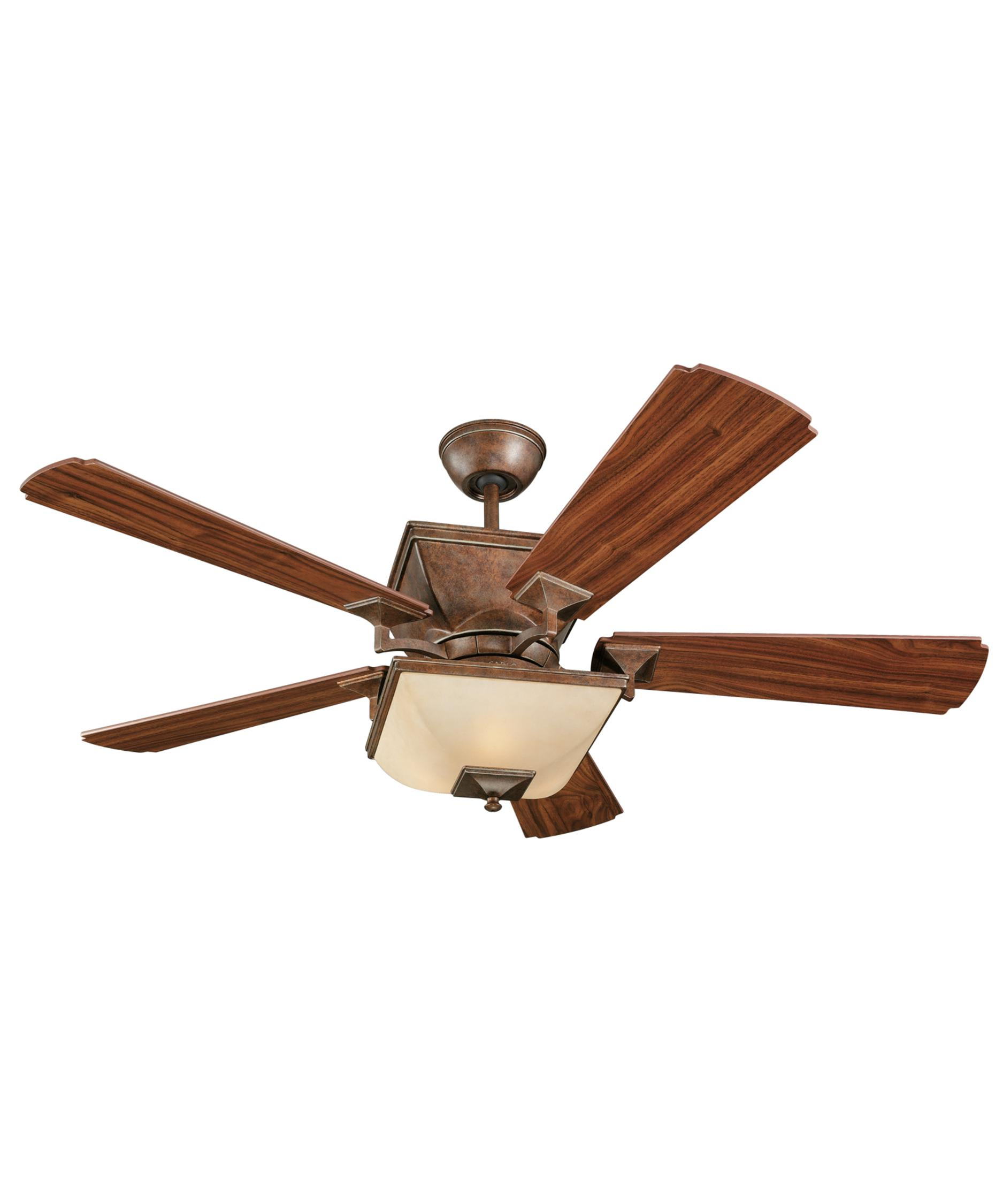 Murray Feiss Ceiling Fan Light Kit: Monte Carlo Town Square 52 Inch Ceiling Fan With Light Kit