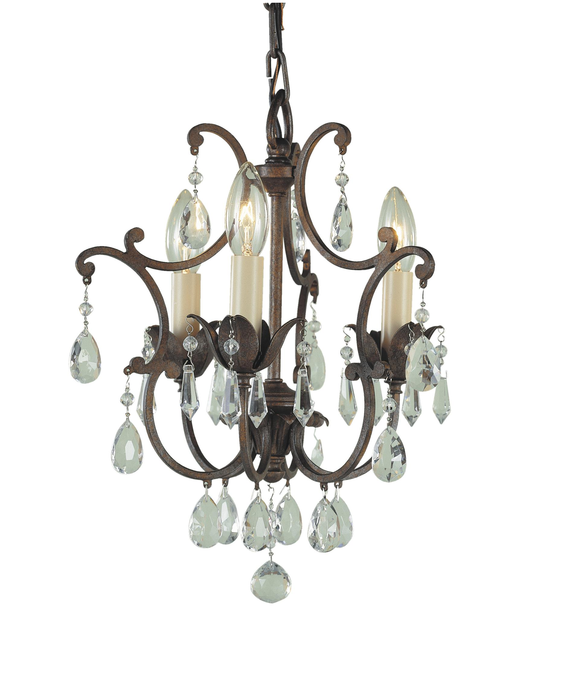 Murray Feiss Maison De Ville 11 Inch Wide 3 Light Mini Chandelier – Murray Feiss Chandeliers