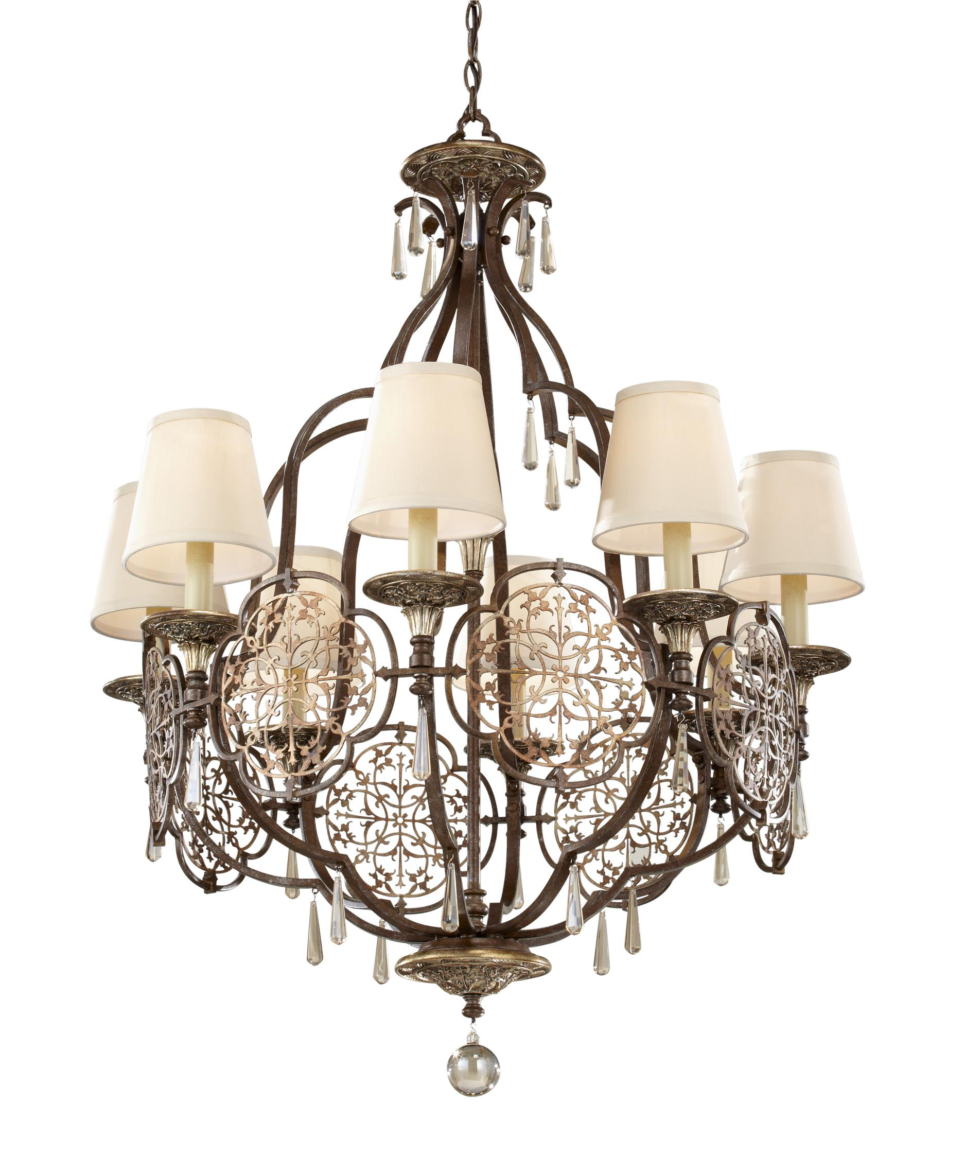 Murray Feiss Marcella 30 Inch Wide 8 Light Chandelier – Murray Feiss Chandeliers