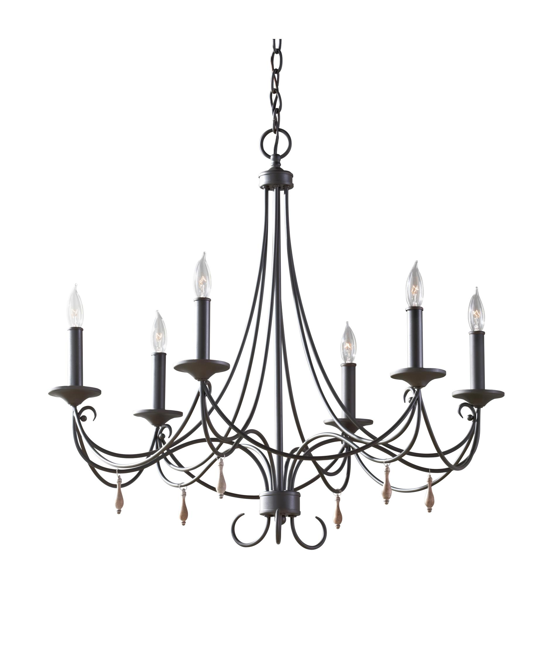 Murray Feiss Aliya 28 Inch Wide 6 Light Chandelier – Murray Feiss Chandeliers