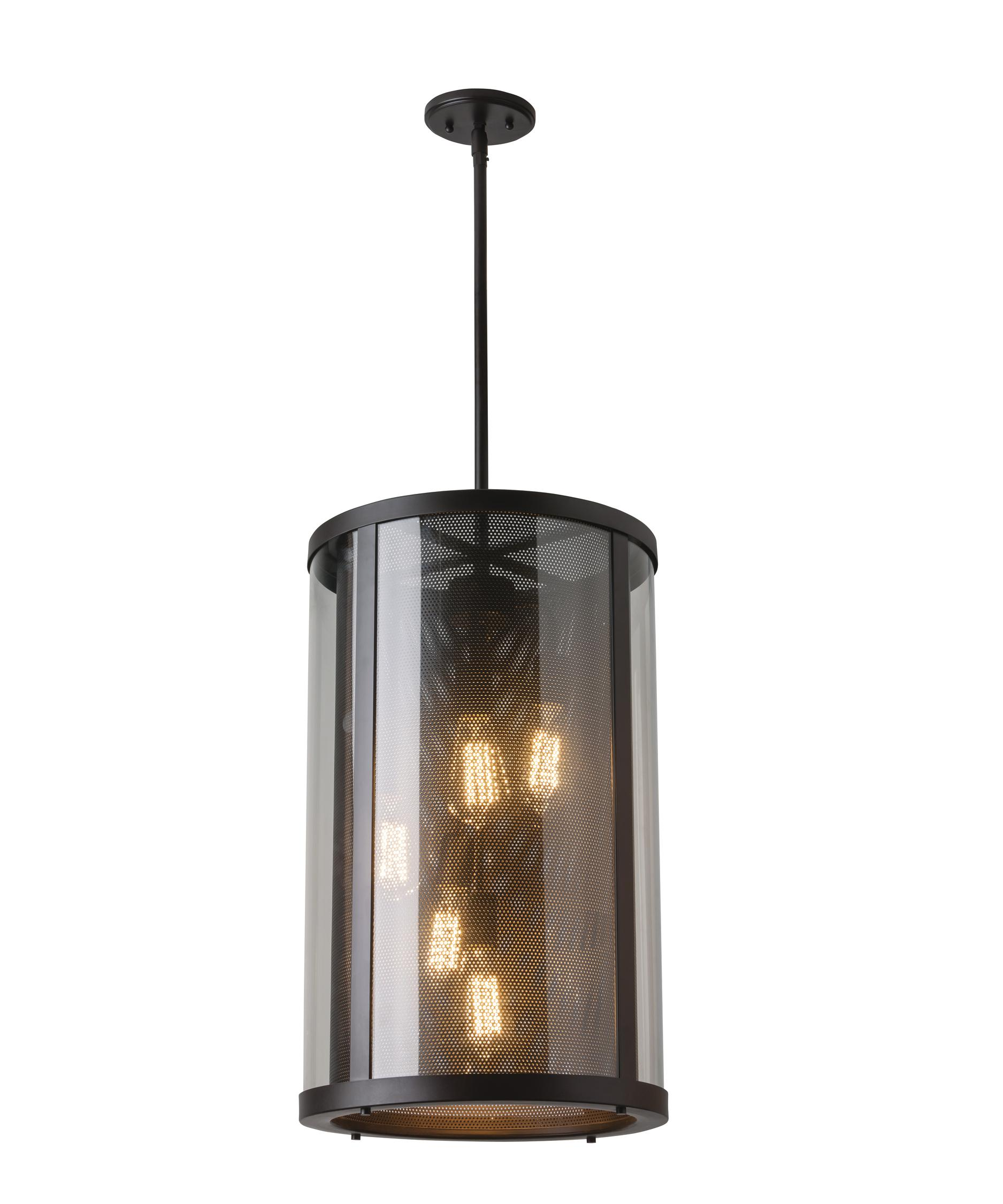 Outdoor hanging lighting - Shown In Oil Rubbed Bronze Finish And Clear Glass