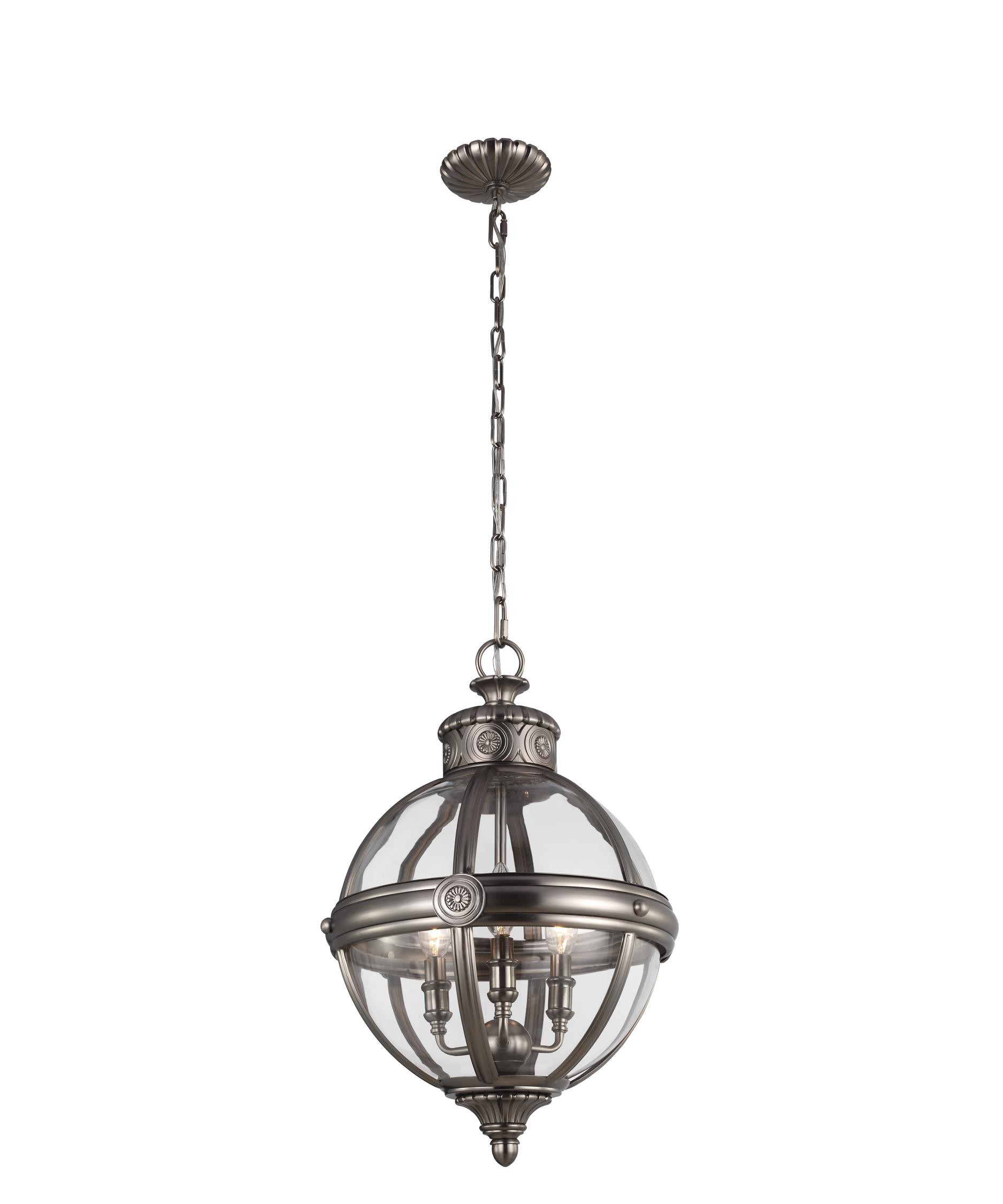 shown in antique nickel finish and clear glass - Feiss Lighting