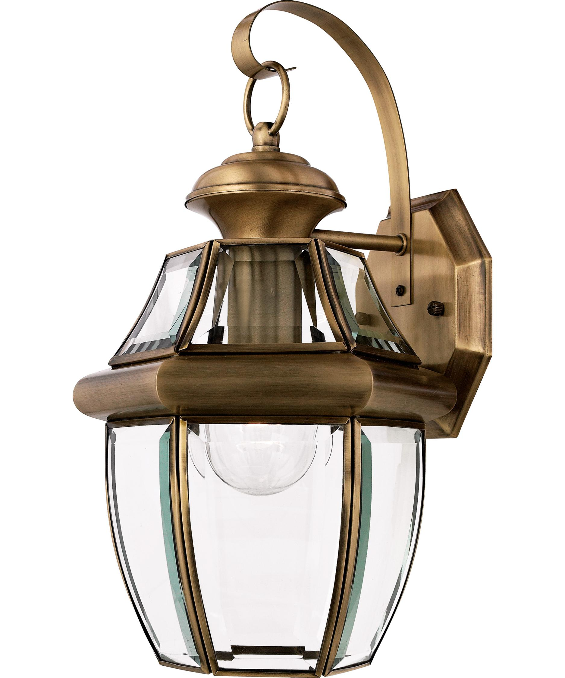 Lovely Shown In Antique Brass Finish And Clear Beveled Glass