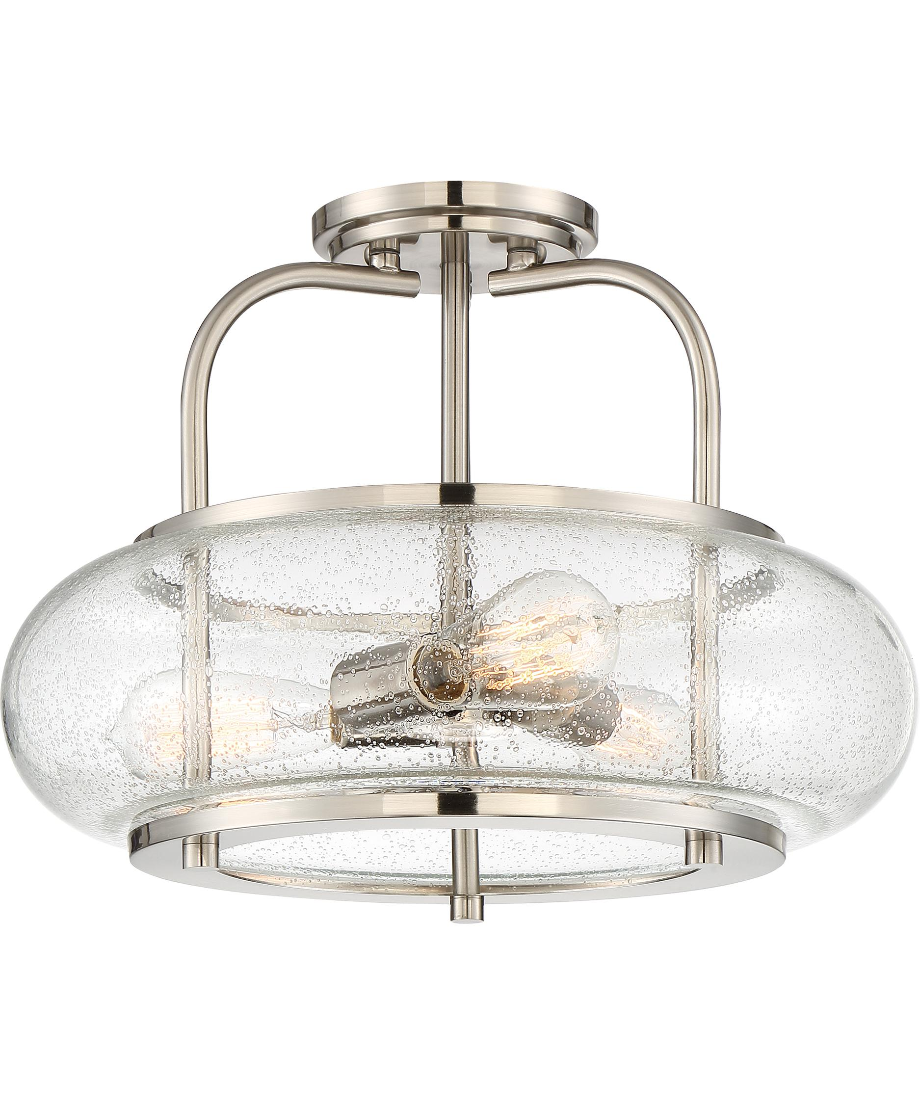 quoizel trg1716 trilogy 16 inch wide semi flush mount capitol lighting