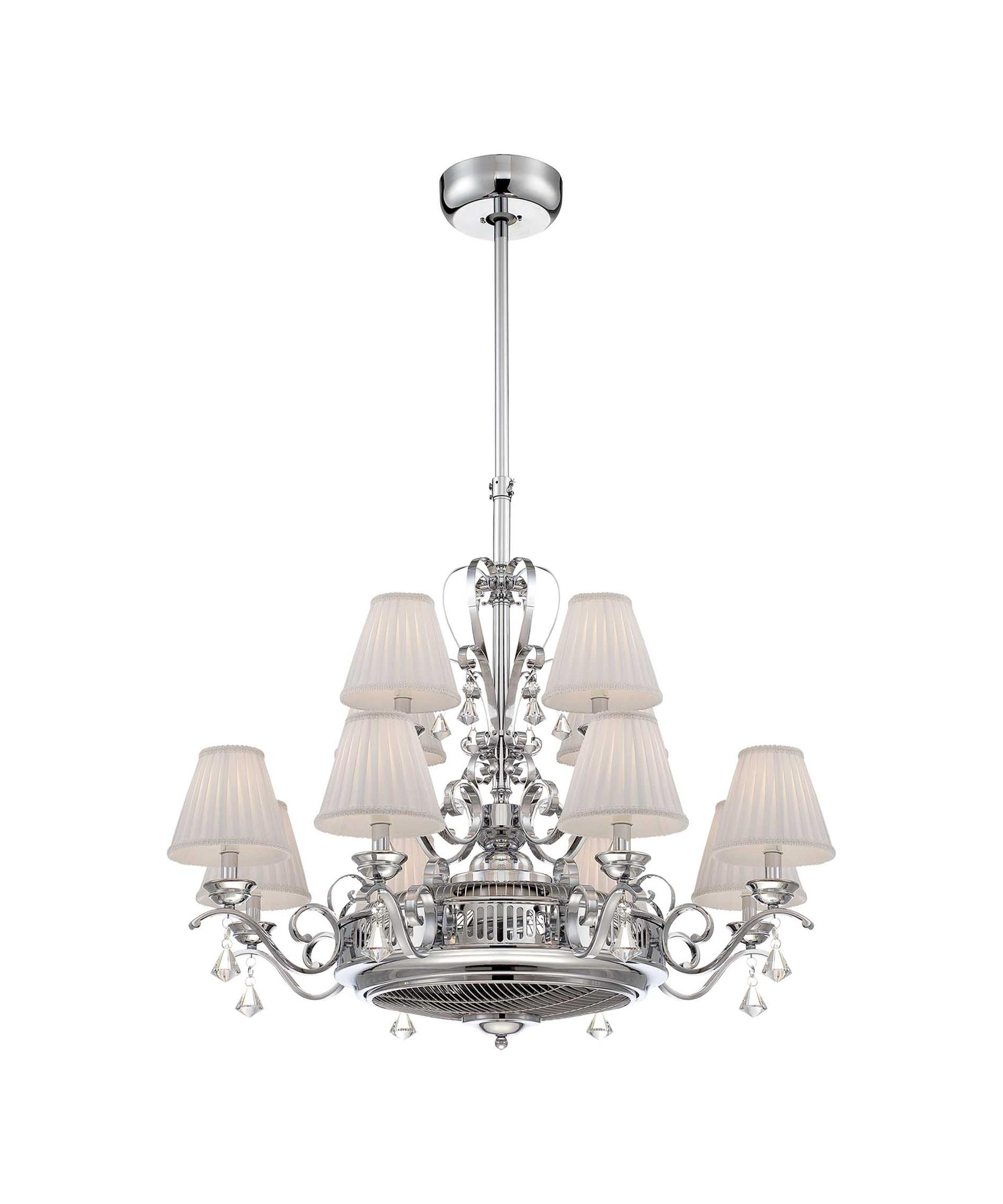 shown in chrome finish and white shade - Savoy Lighting
