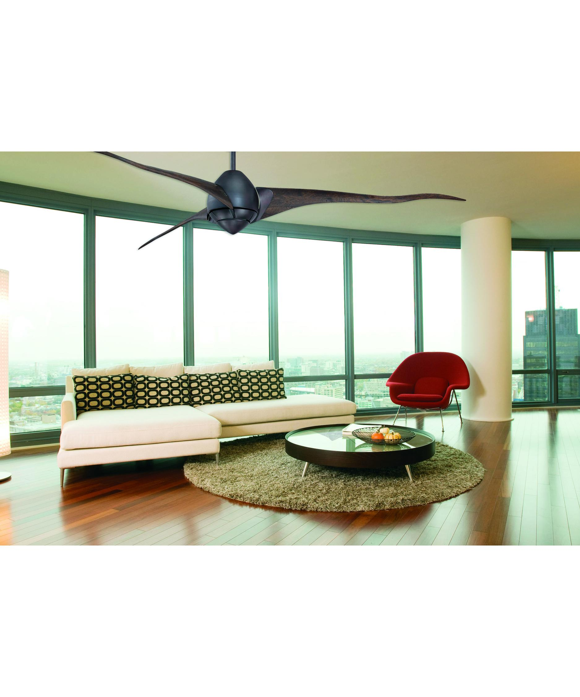 72 Inch Outdoor Fan Part - 43: Shown In English Bronze Finish And Opal Etched Glass
