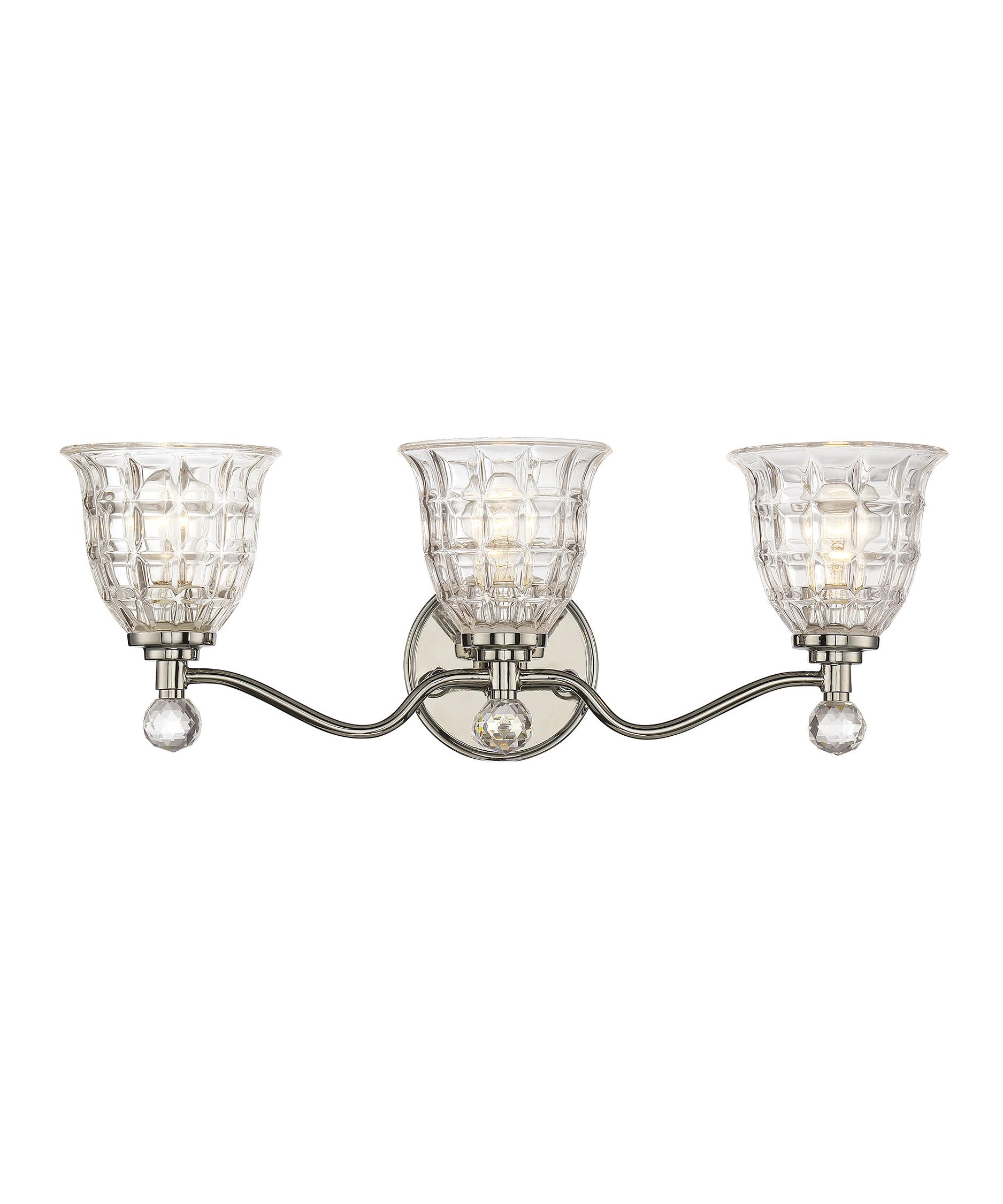 Shown In Polished Nickel Finish And Clear Crystal Glass