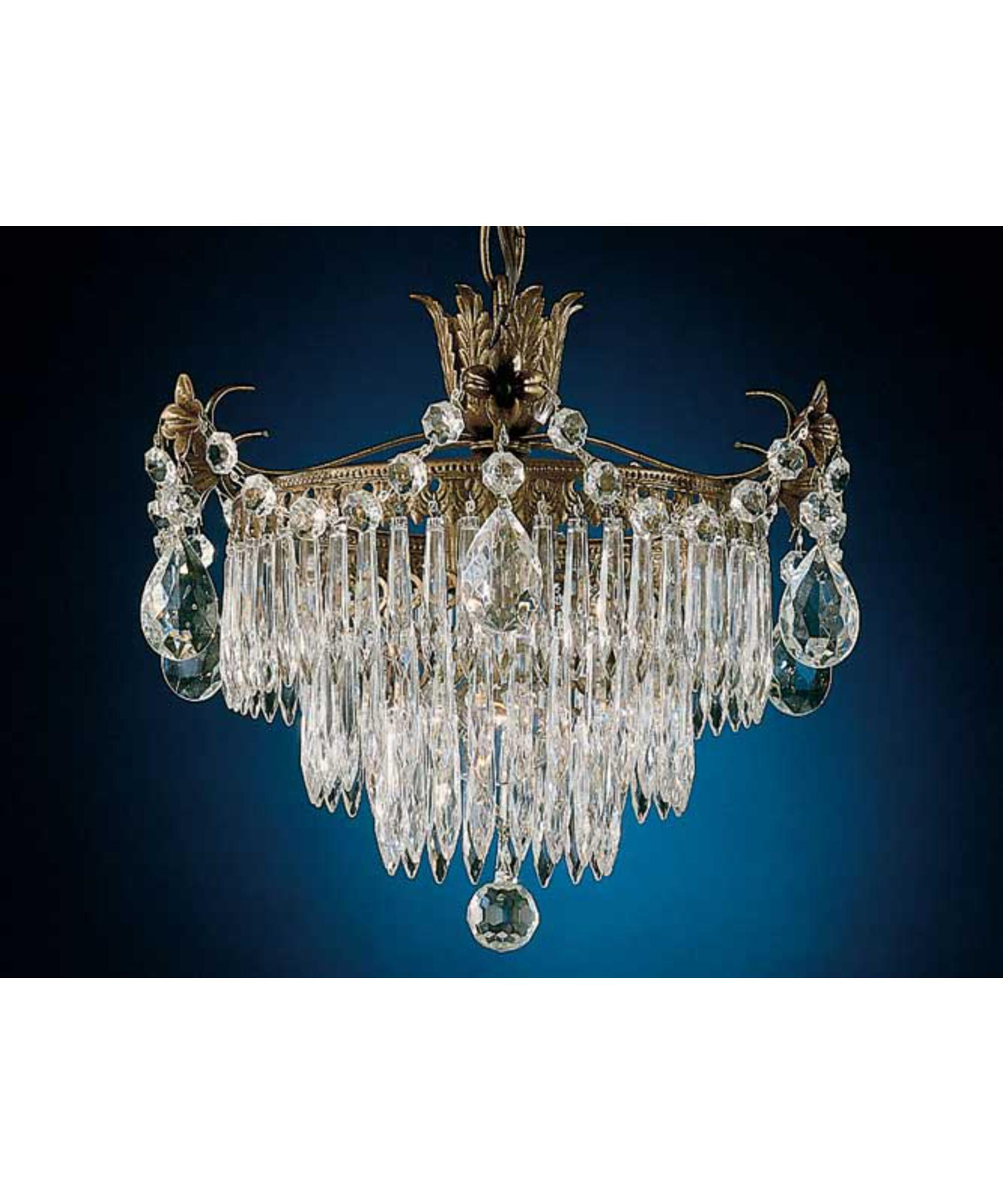 shown in etruscan gold finish and clear legacy crystal - Schonbek Chandelier