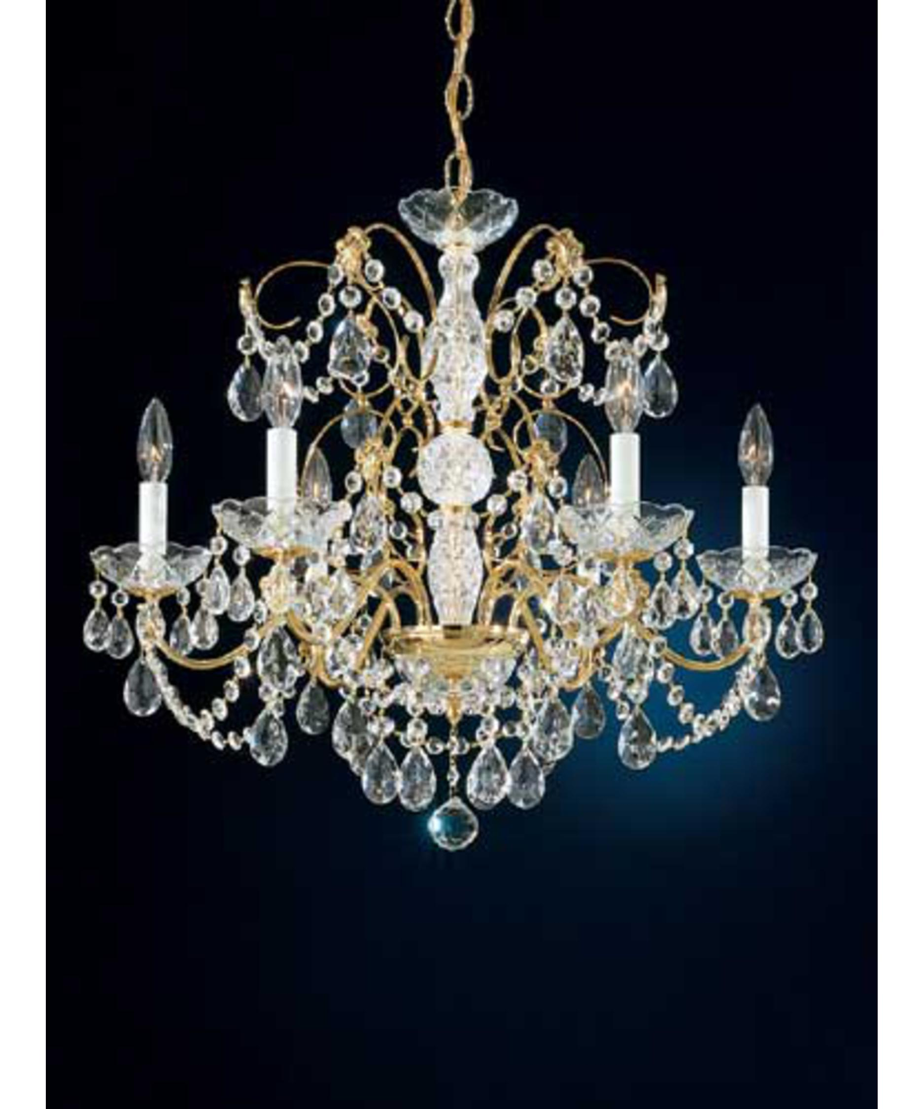 shown in gold finish and clear heritage handcut crystal - Schonbek Lighting