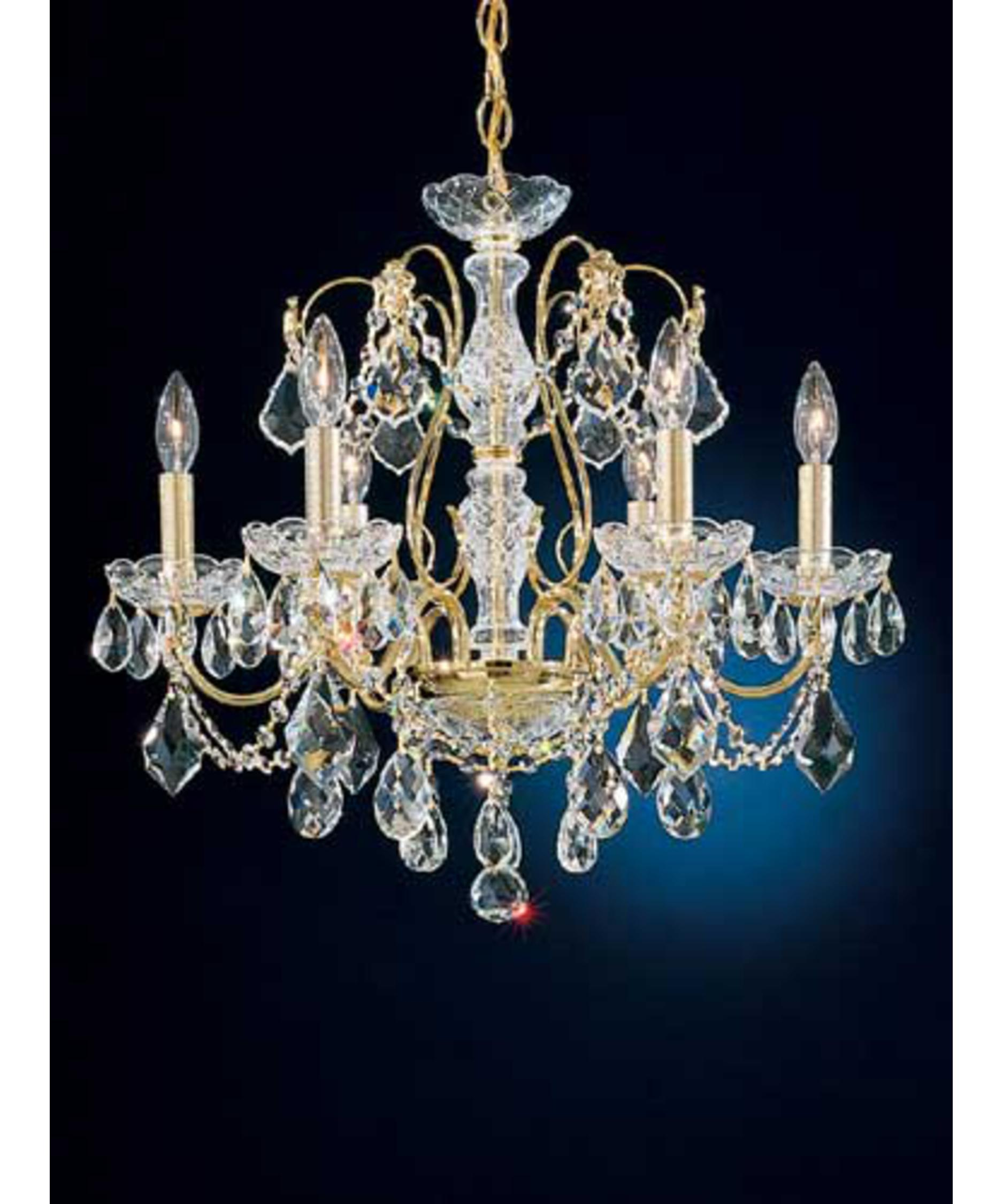 shown in gold finish and clear heritage handcut crystal - Schonbek Chandelier