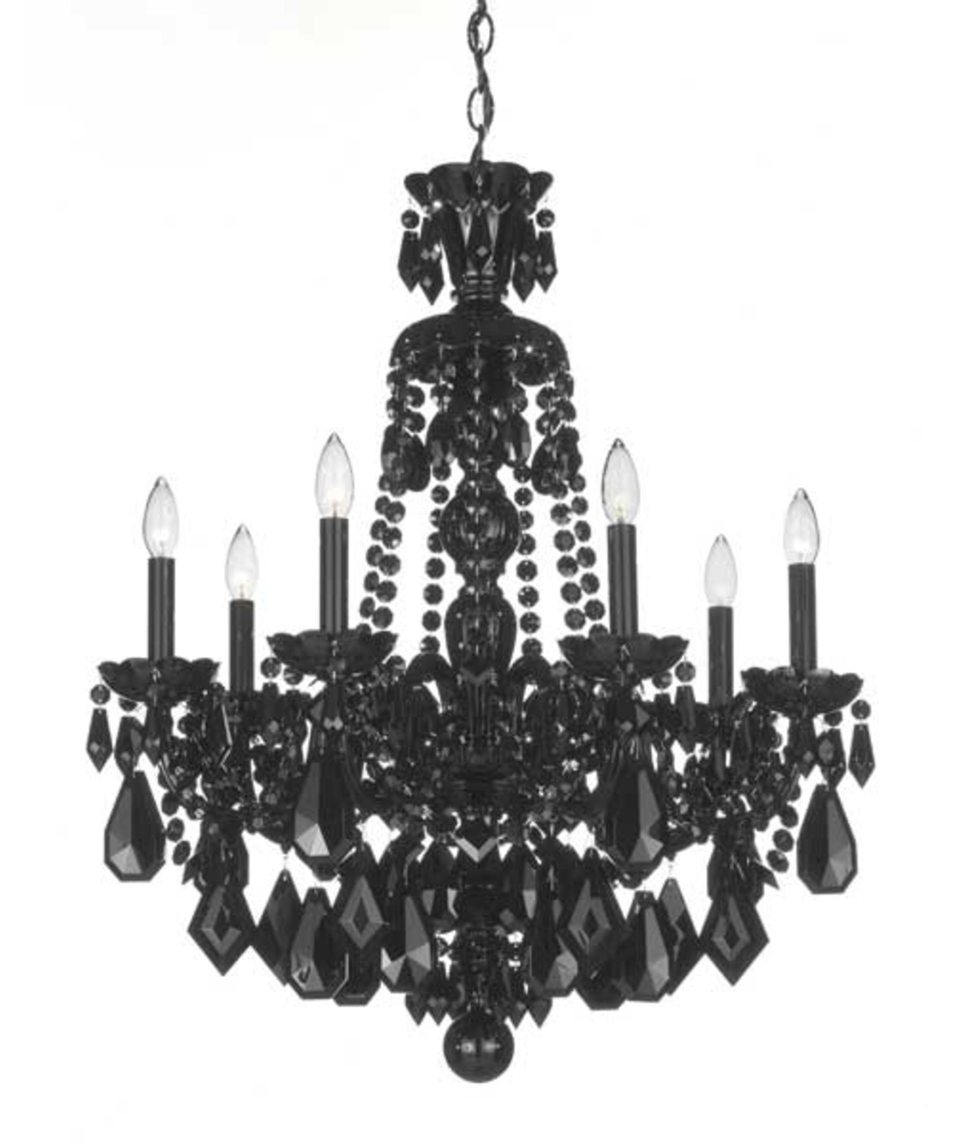 Schonbek Hamilton Black 24 Inch Wide 7 Light Chandelier  Capitol