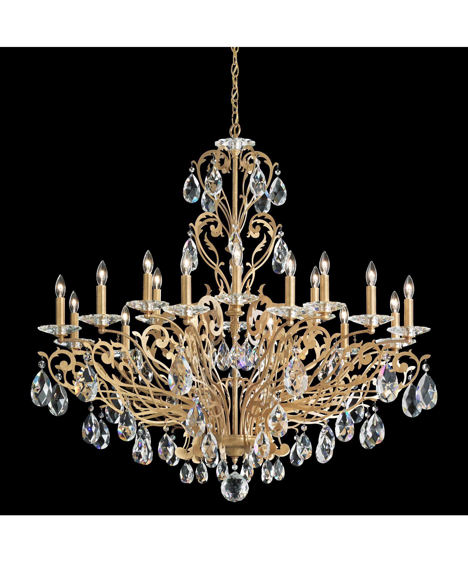 schonbek fe7018 filigrae 39 inch wide 18 light chandelier capitol lighting - Schonbek
