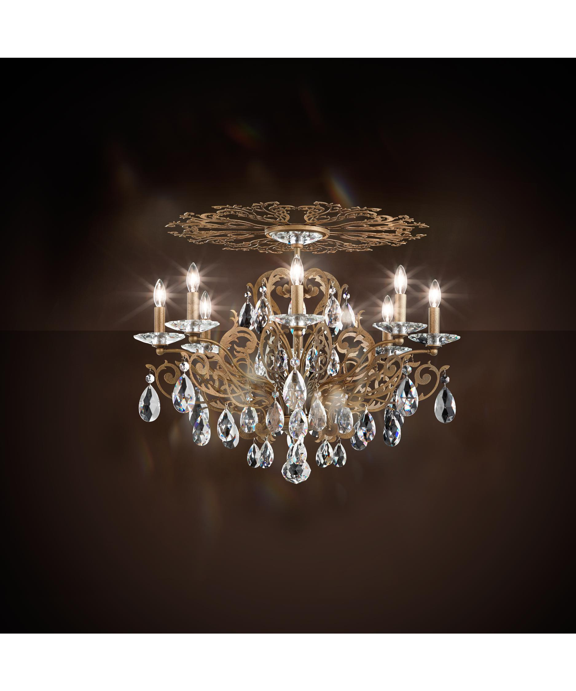 shown in etruscan gold finish and spectra crystal - Schonbek Chandelier
