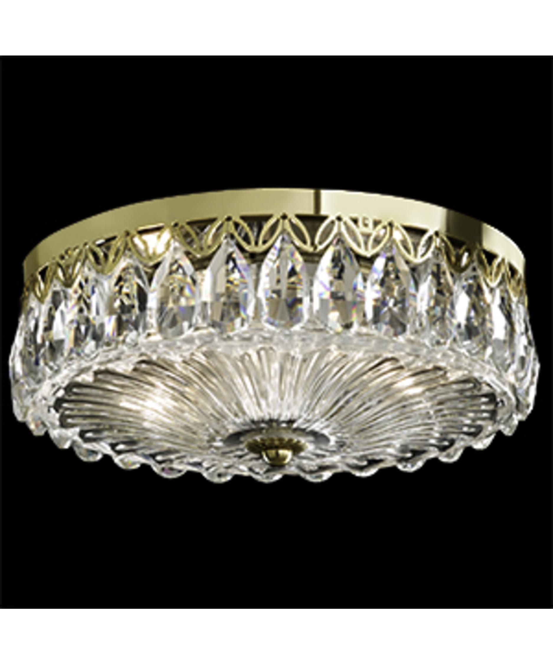schonbek fl7067 fontana luce 12 inch wide flush mount capitol lighting - Schonbek Lighting
