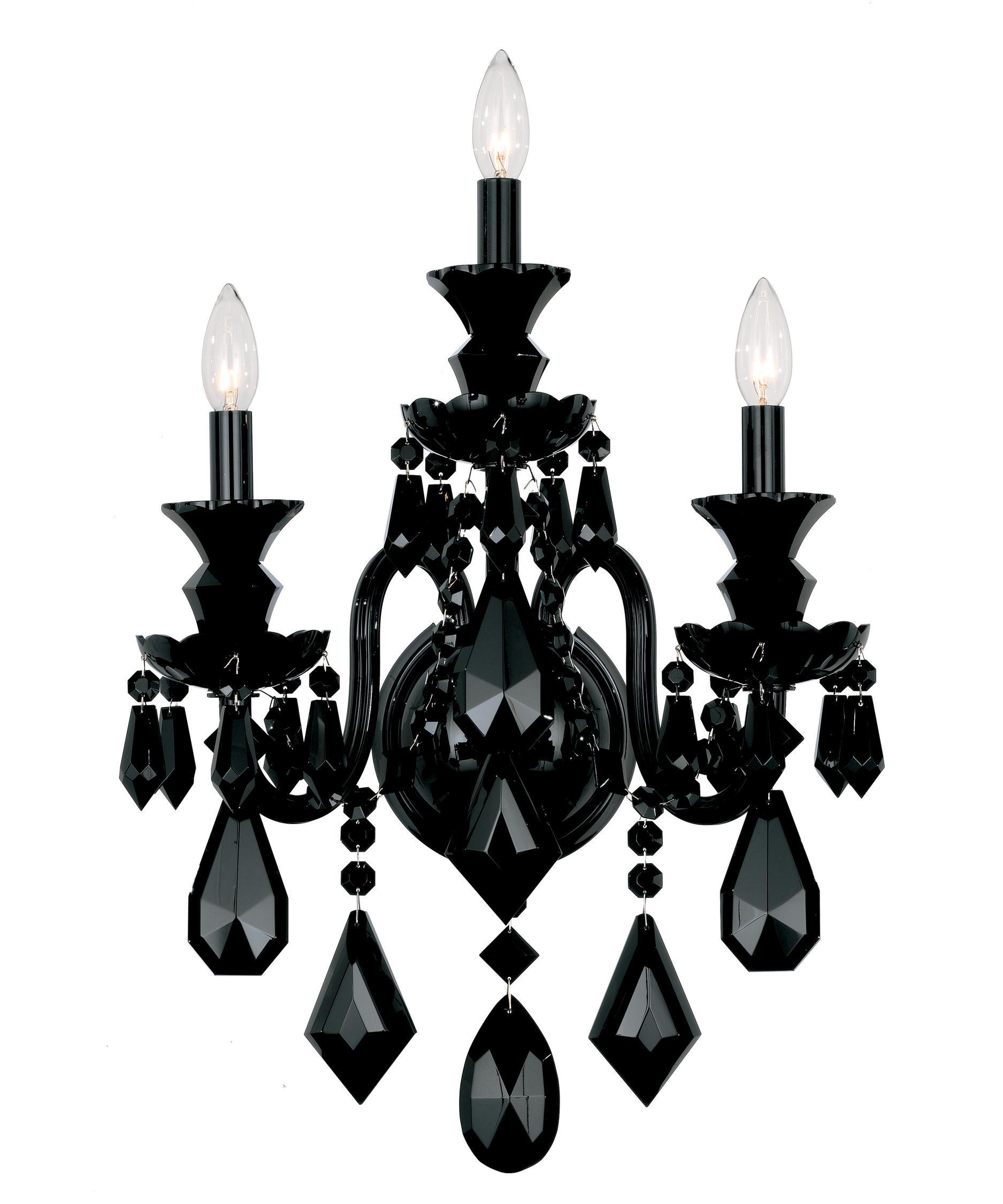 black crystal chandelier lighting. shown in wet black finish and jet crystal chandelier lighting
