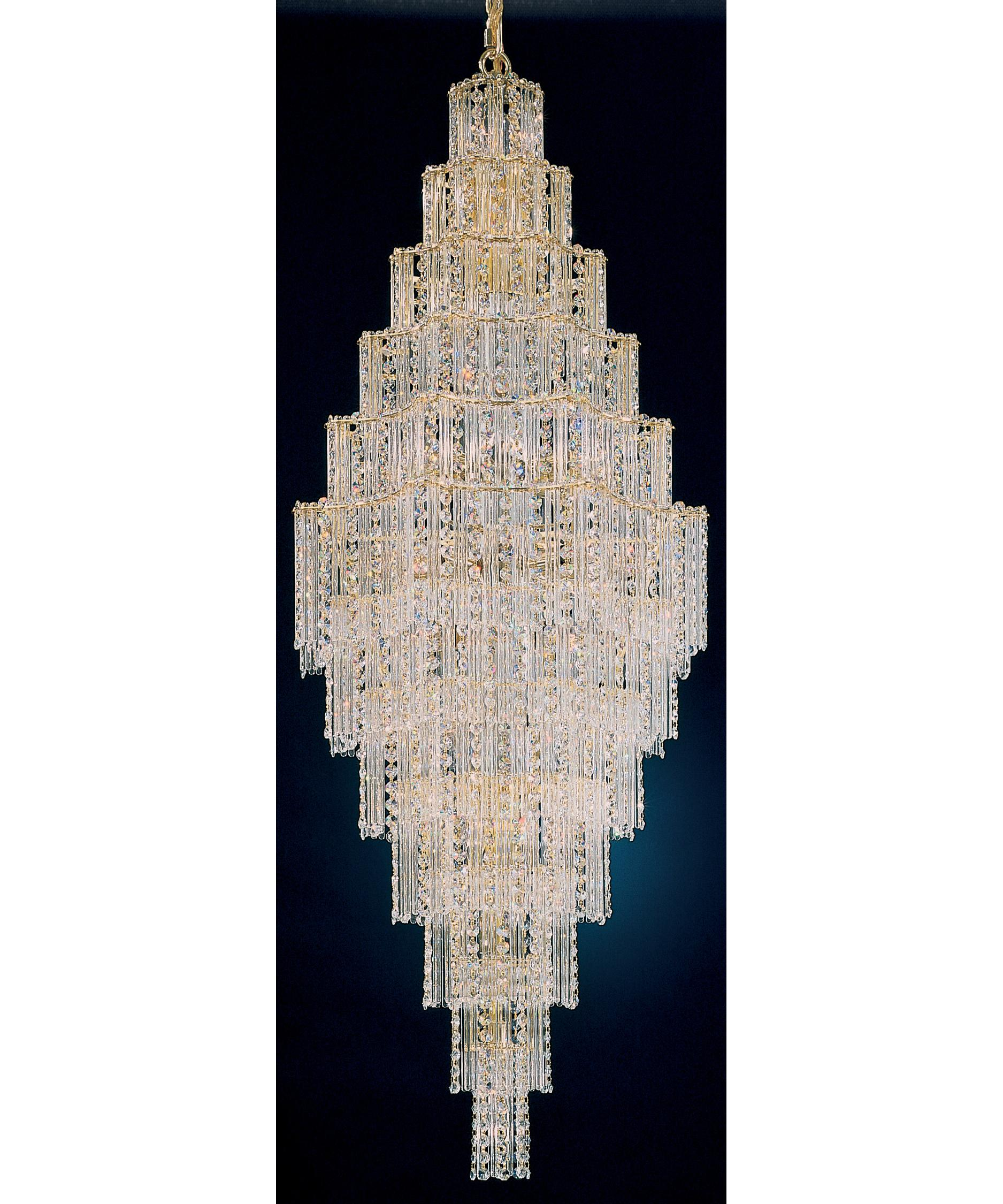 shown in gold finish and gemcut crystal - Schonbek Lighting