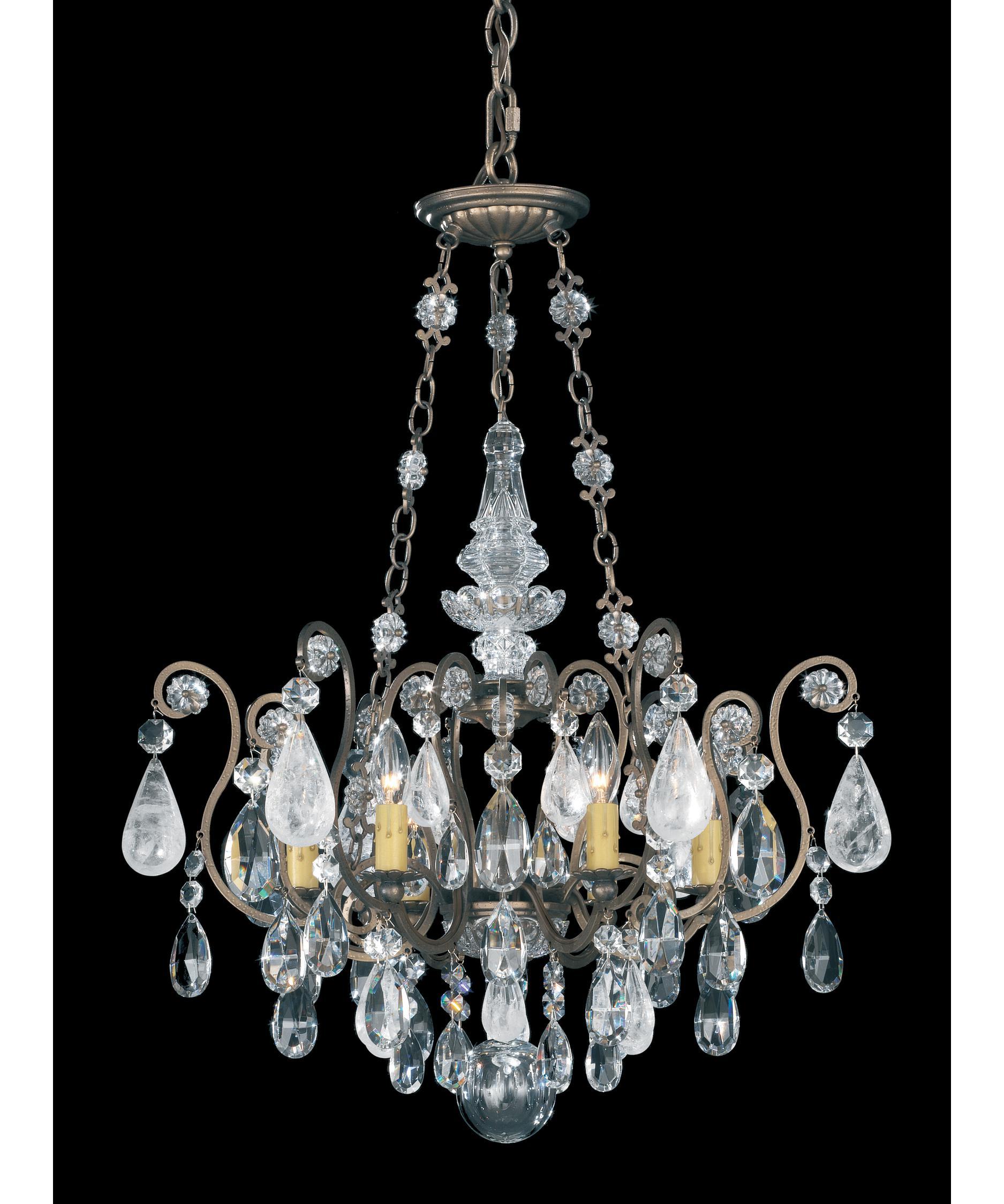 Schonbek Renaissance Rock Crystal 22 Inch Wide 6 Light Chandelier – Rock Crystal Chandelier