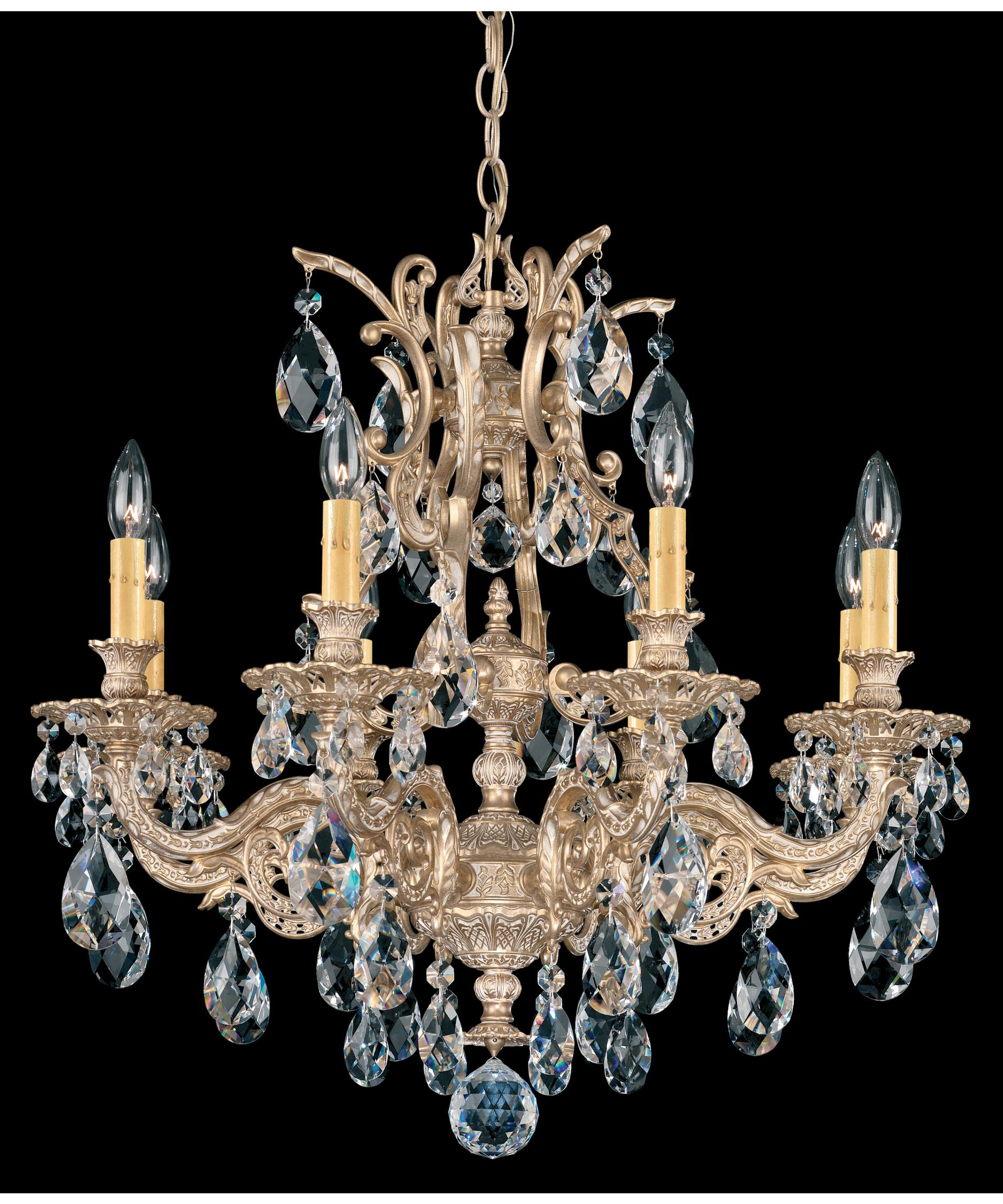 schonbek sophia 26 inch wide 8 light chandelier capitol lighting - Schonbek