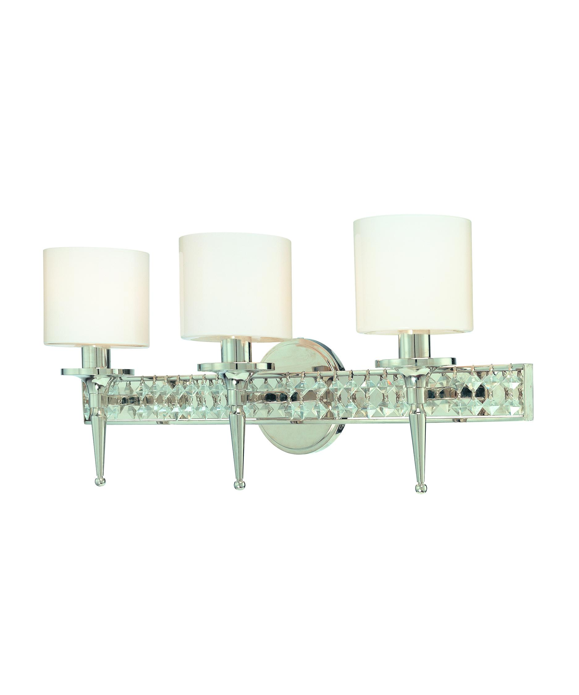 Bathroom Vanity Lights Polished Nickel troy lighting b1923 collins 24 inch wide bath vanity light