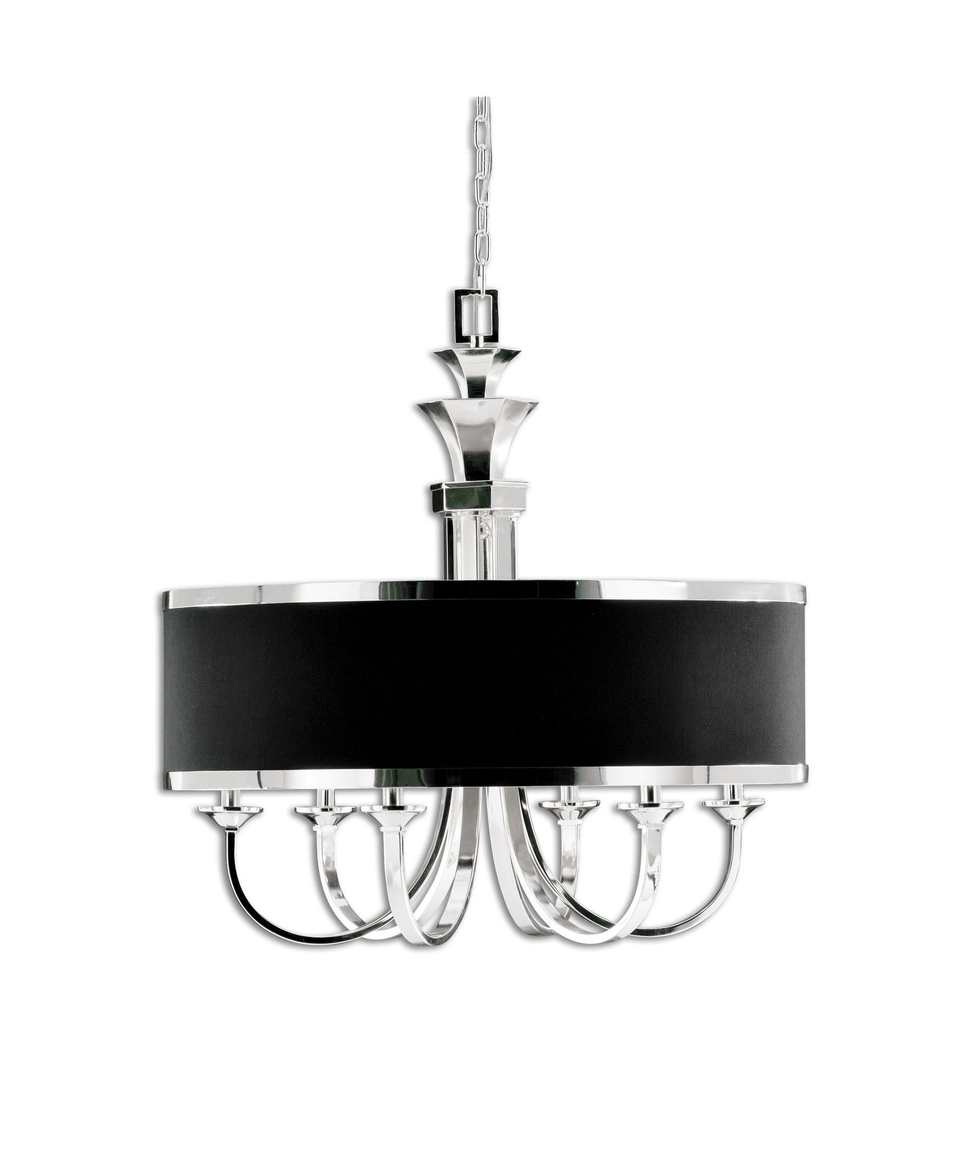 uttermost tuxedo 28 inch wide 6 light chandelier capitol lighting - Uttermost Lighting