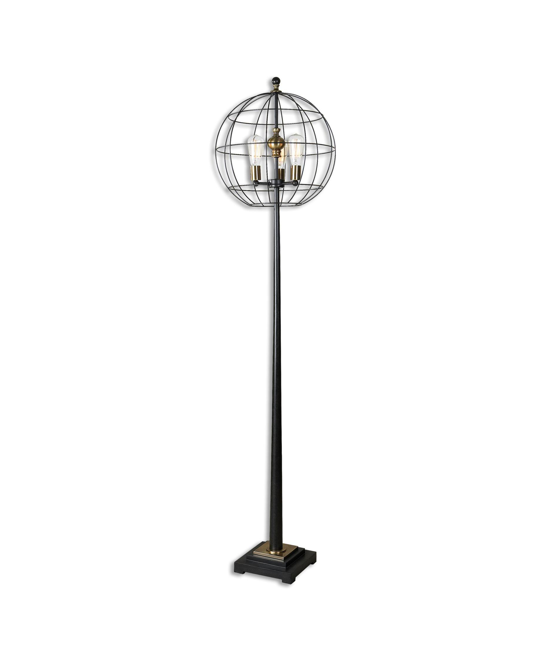 shown in aged black finish - Uttermost Lamps