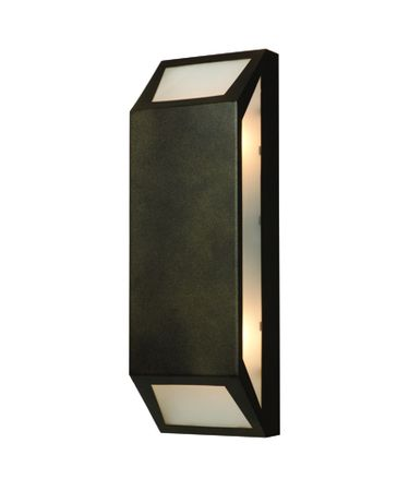 Shown in Bronze finish and Frosted glass