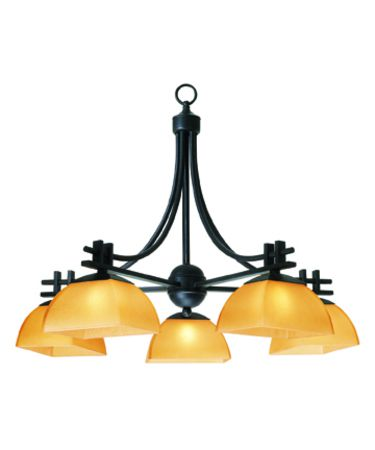 Shown in Antique Bronze finish and Amber glass