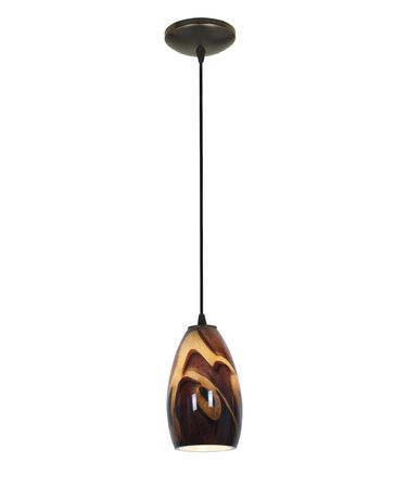 Shown in Oil Rubbed Bronze finish and Inca glass