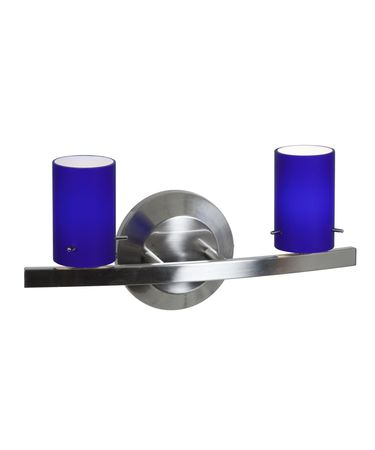 Shown in Matte Chrome finish and Cobalt Blue glass