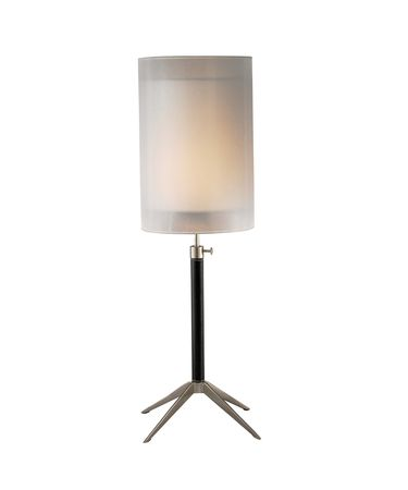 Shown in Steel finish and Silk PVC Shade shade